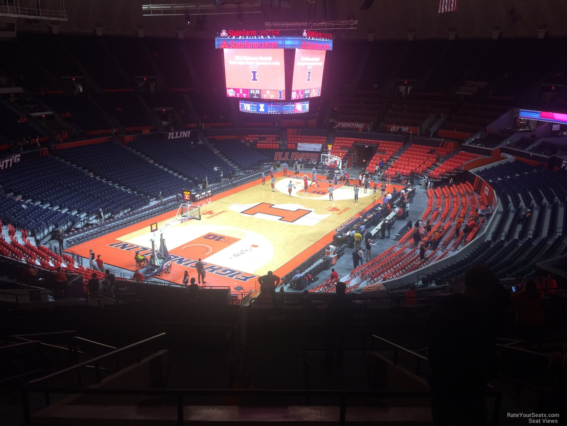 Seat View for State Farm Center Section 233, Row 10