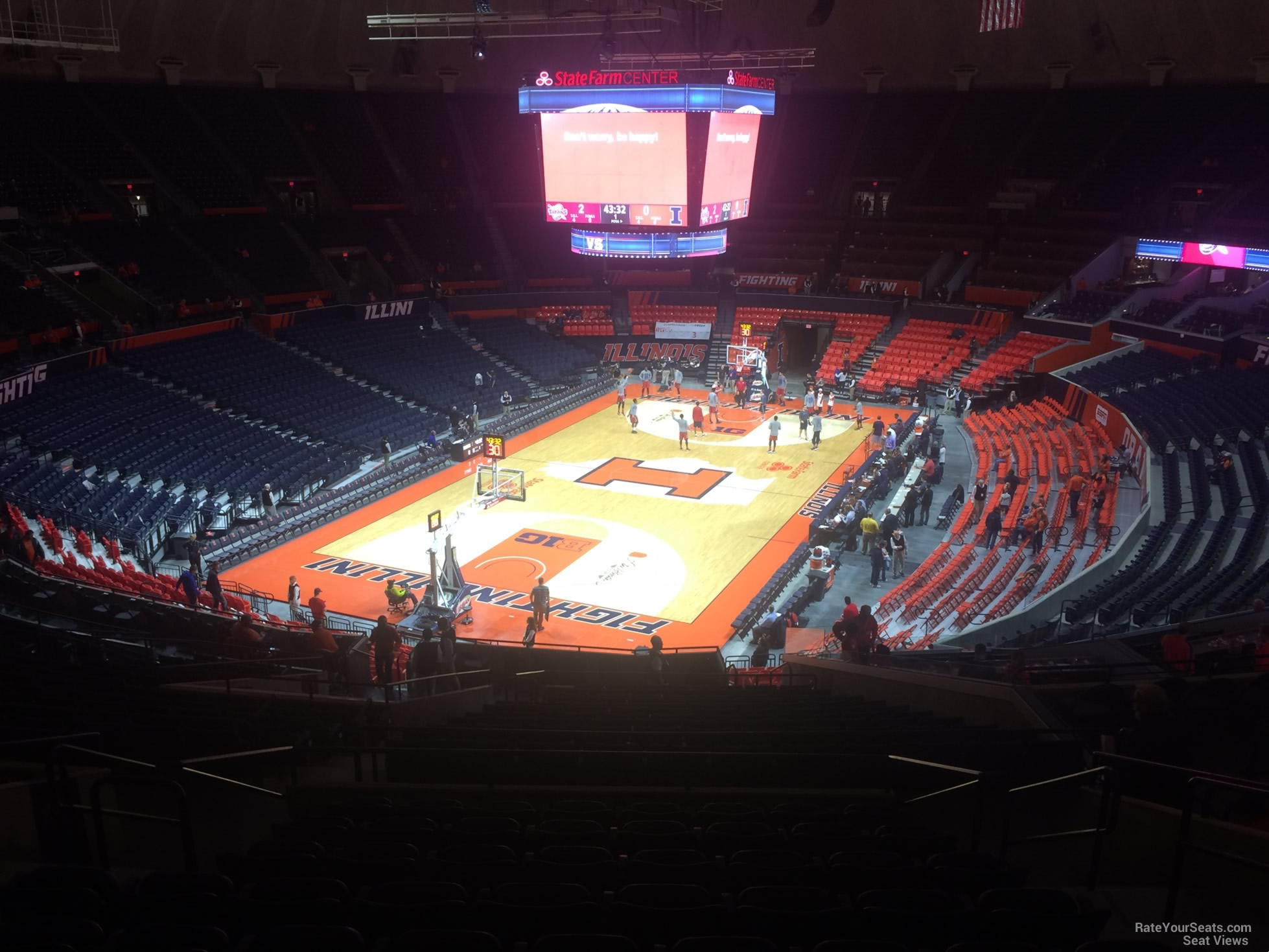 Seat View for State Farm Center Section 234, Row 10