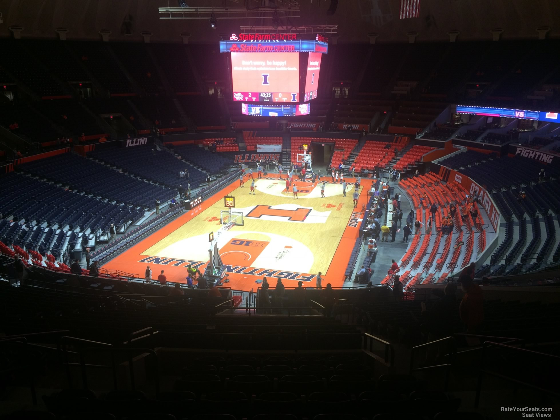 Seat View for State Farm Center Section 235, Row 10