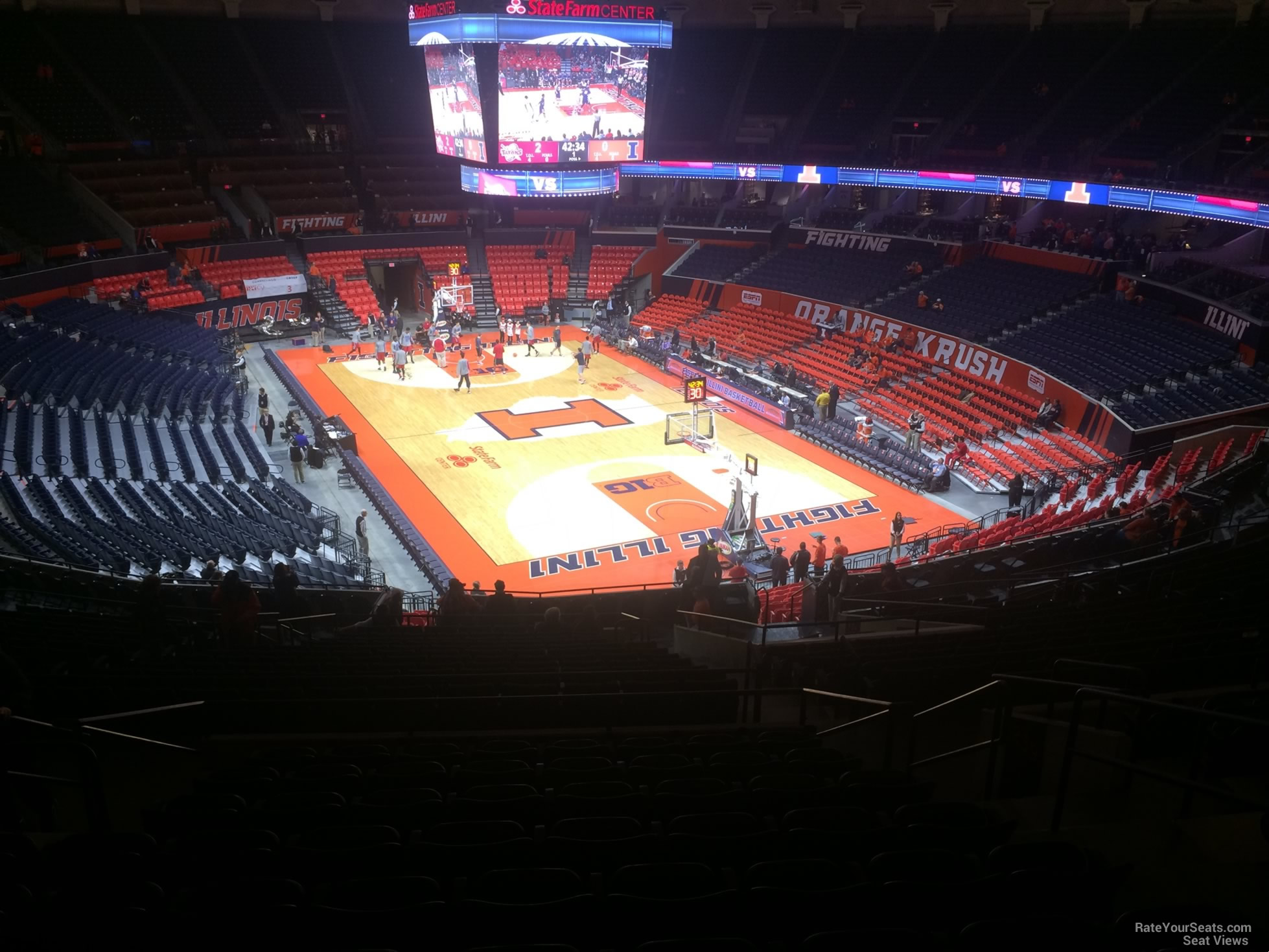 Seat View for State Farm Center Section 240, Row 10