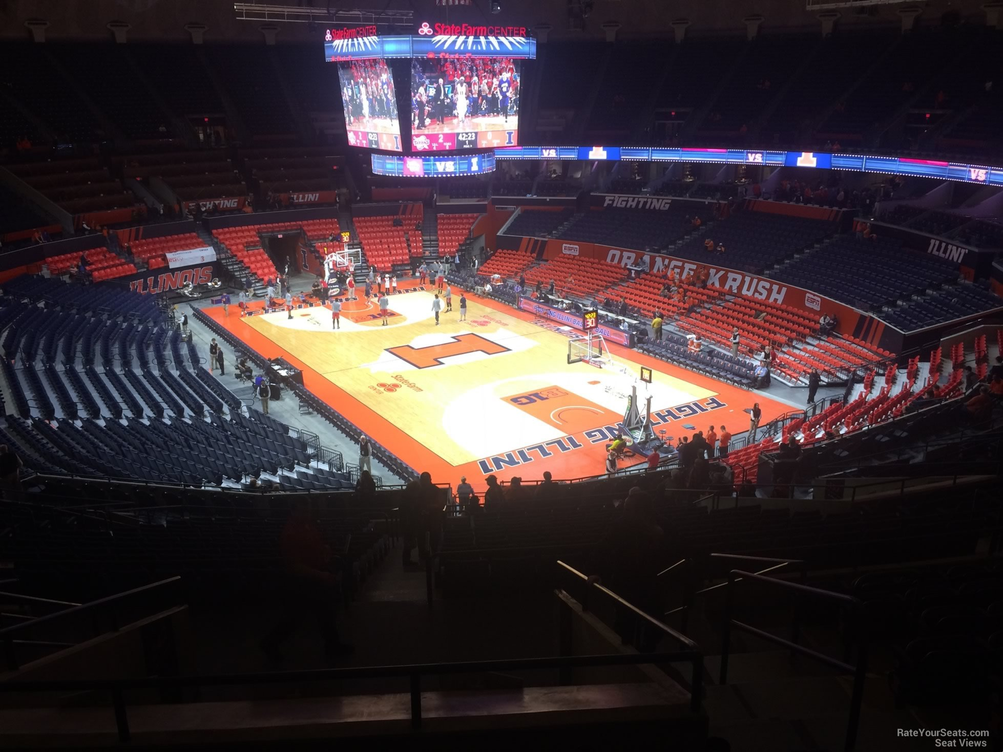 Seat View for State Farm Center Section 241, Row 10