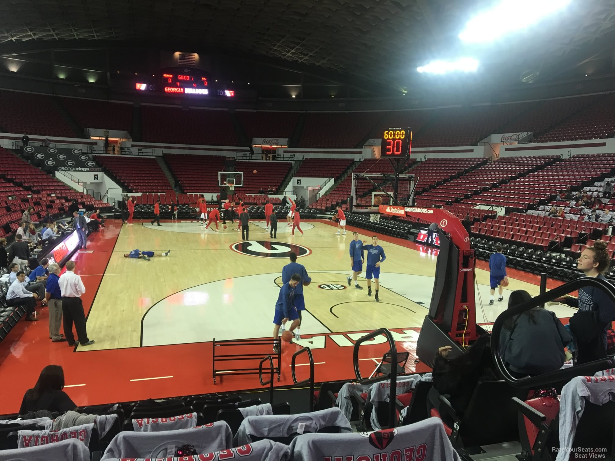 Seat View for Stegeman Coliseum Section A, Row 10