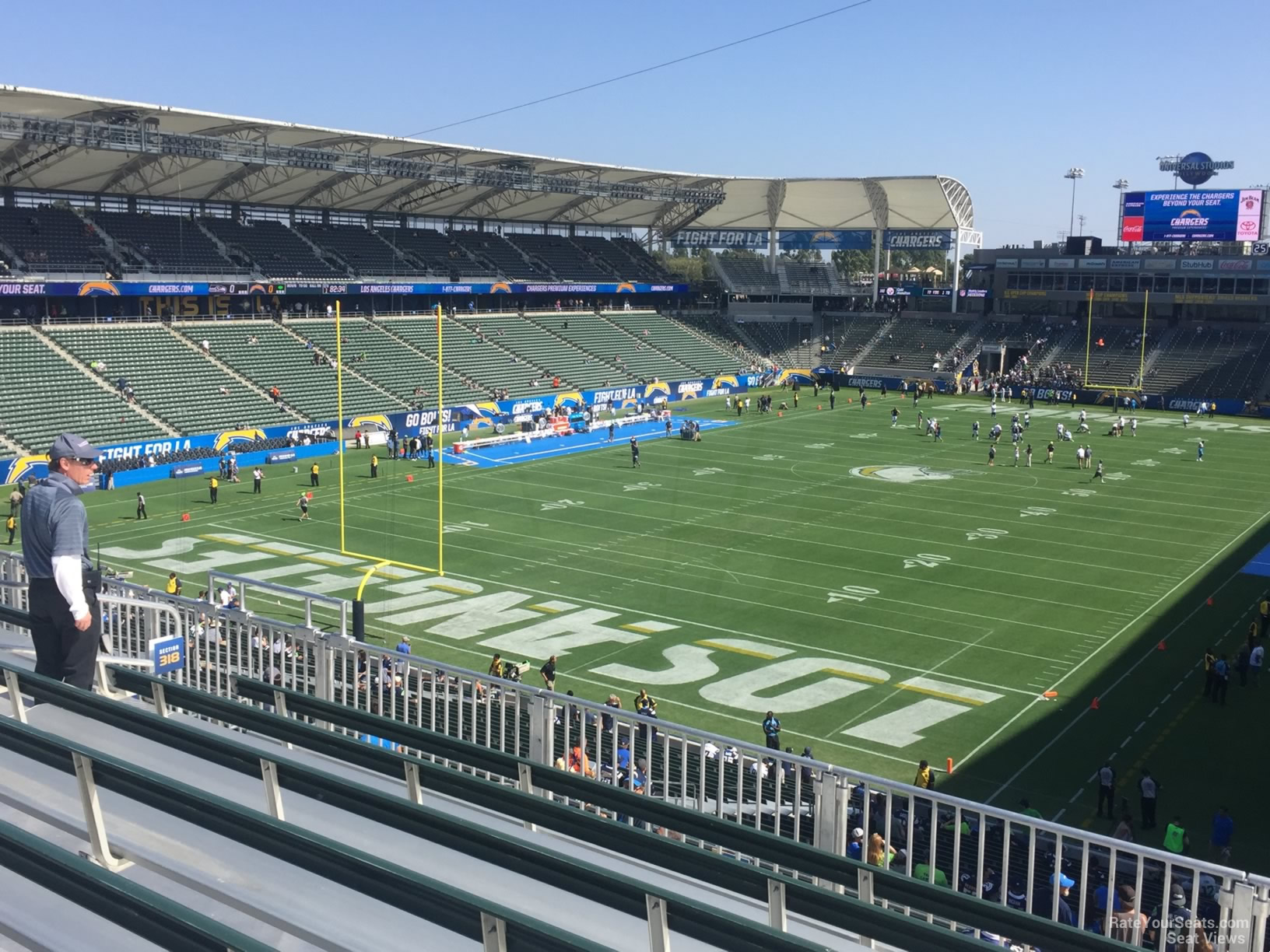 Stubhub Center Section 318 Los Angeles Chargers
