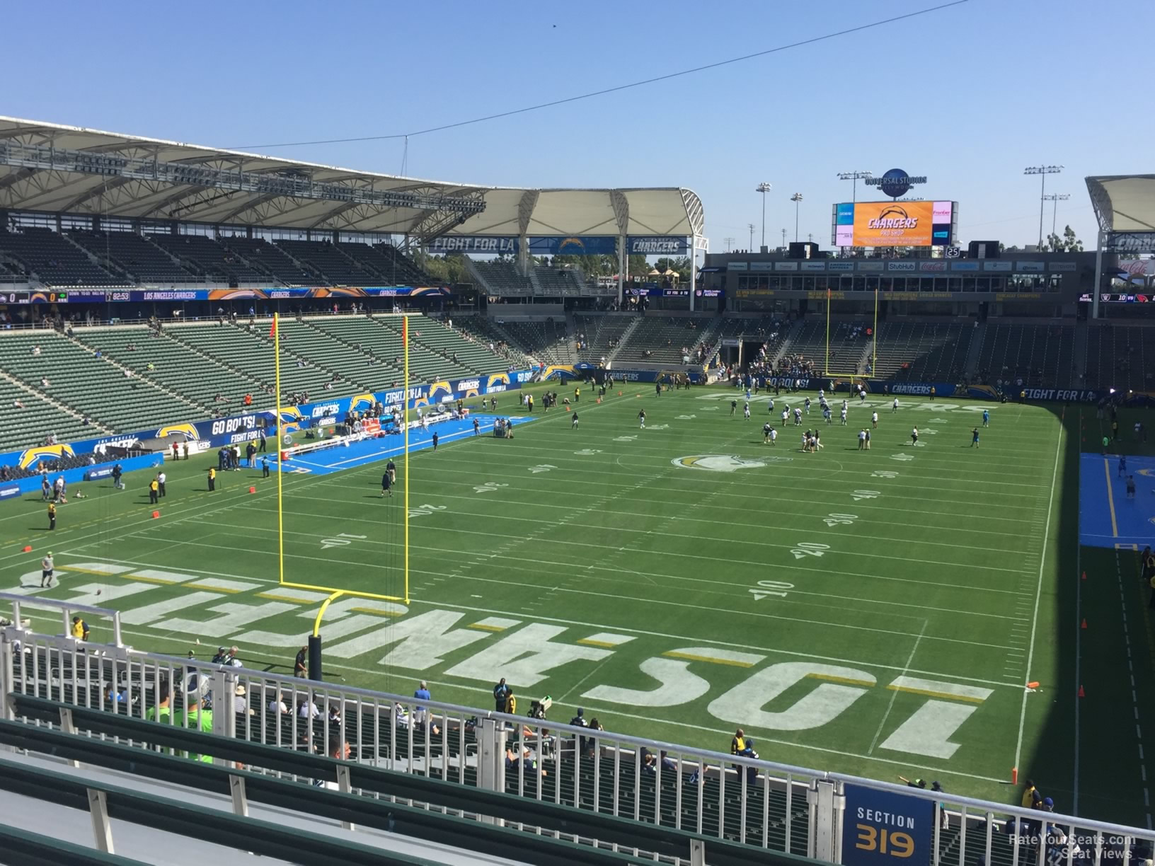 Los Angeles Chargers Seat View For Dignity Health Sports Park Section 319 Row Hh
