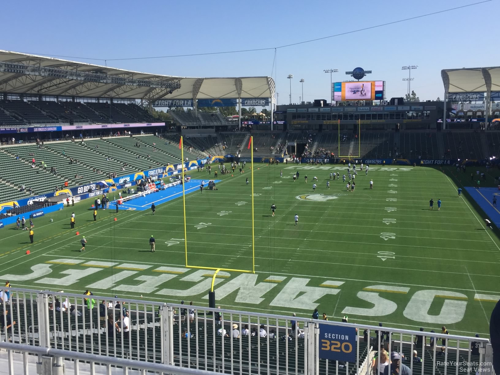Los Angeles Chargers Seat View For Dignity Health Sports Park Section 320 Row Hh