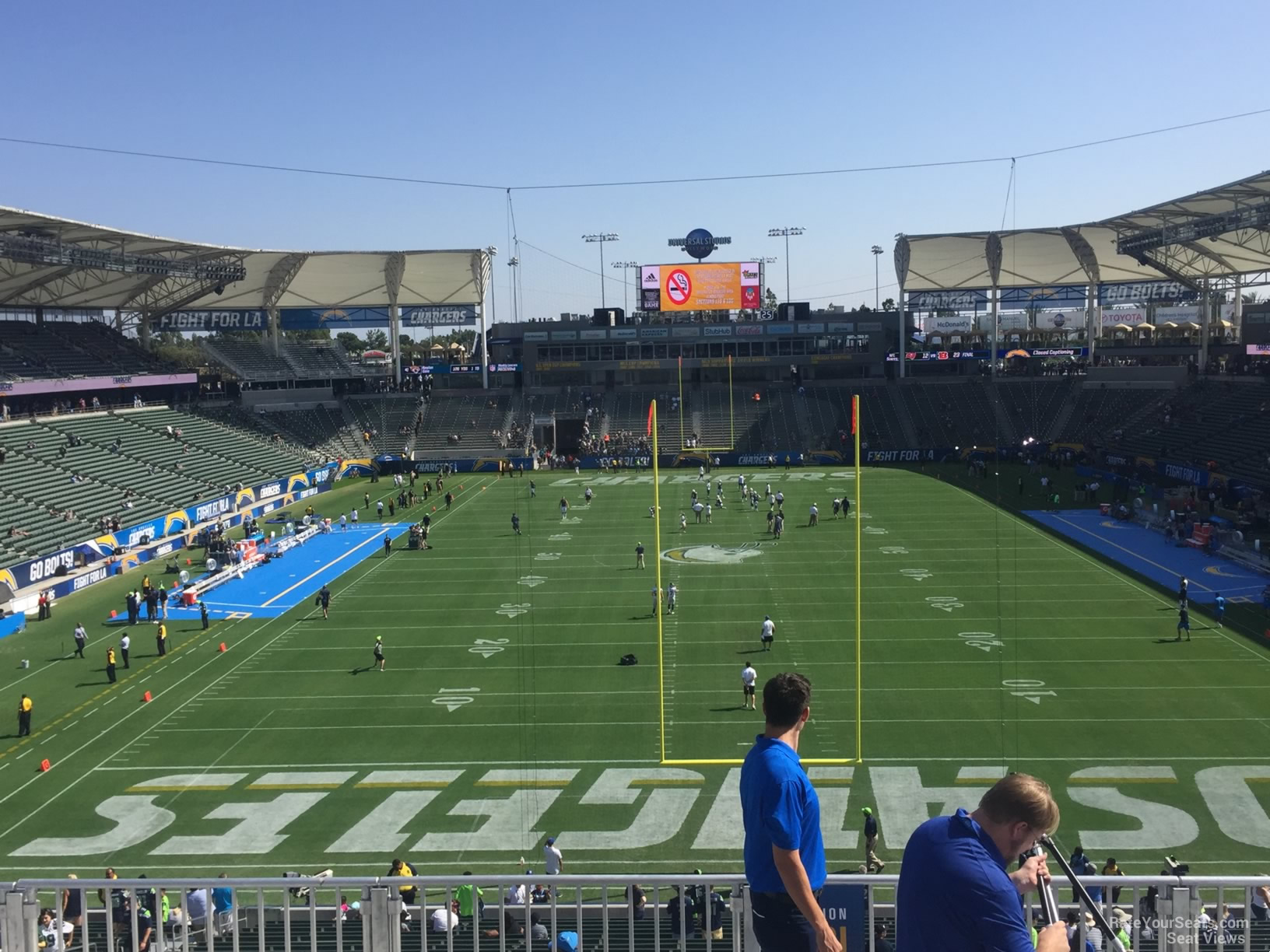 Los Angeles Chargers Seat View For Dignity Health Sports Park Section 321 Row Hh