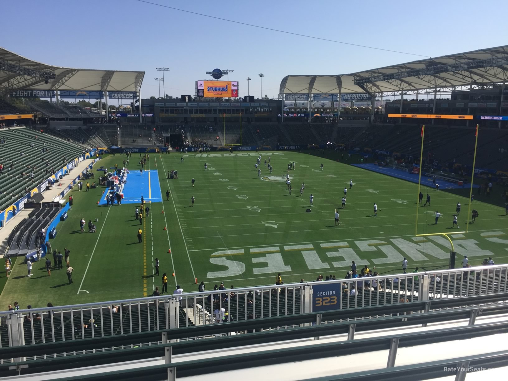 Los Angeles Chargers Seat View For Dignity Health Sports Park Section 323 Row Hh
