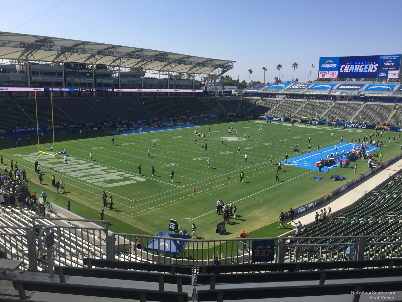 Los Angeles Chargers Seat View For Dignity Health Sports Park Section 337 Row Hh