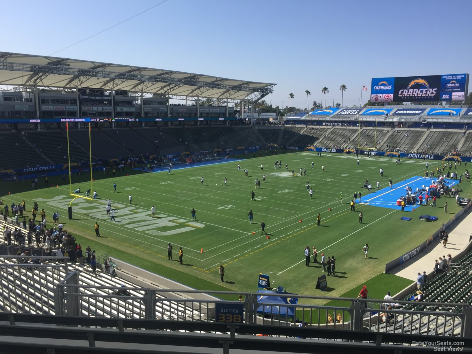 Los Angeles Chargers Seat View For Dignity Health Sports Park Section 338 Row Hh