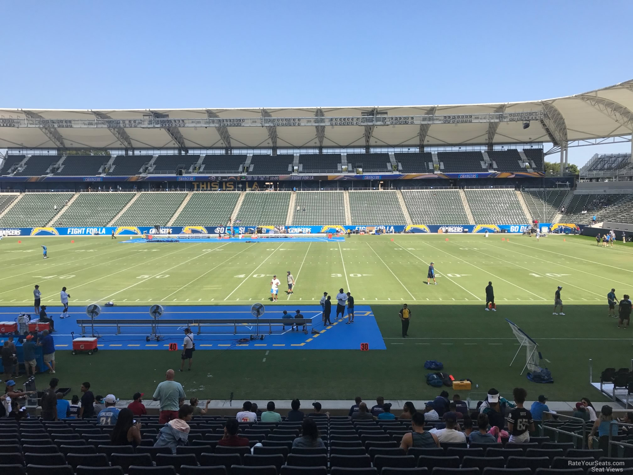 Dignity Health Sports Park Section 110 Football Seating ...
