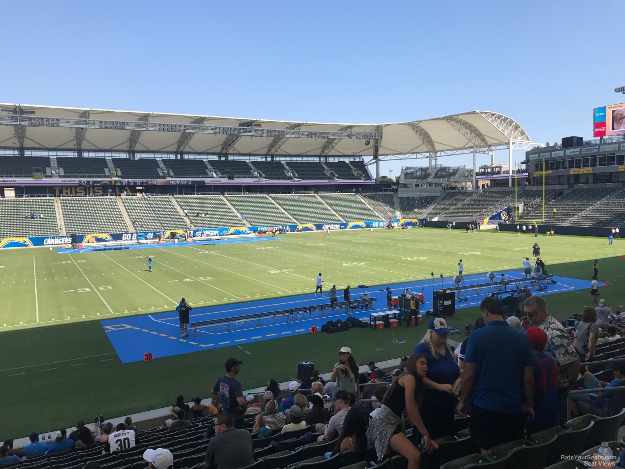 Stubhub Center Section 113 Los Angeles Chargers