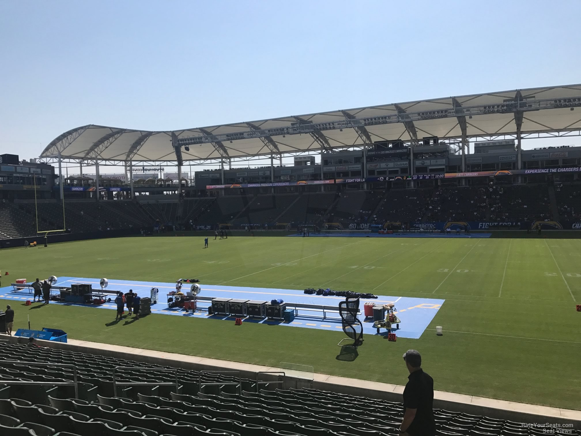 Los Angeles Chargers Seat View For Dignity Health Sports Park Section 130