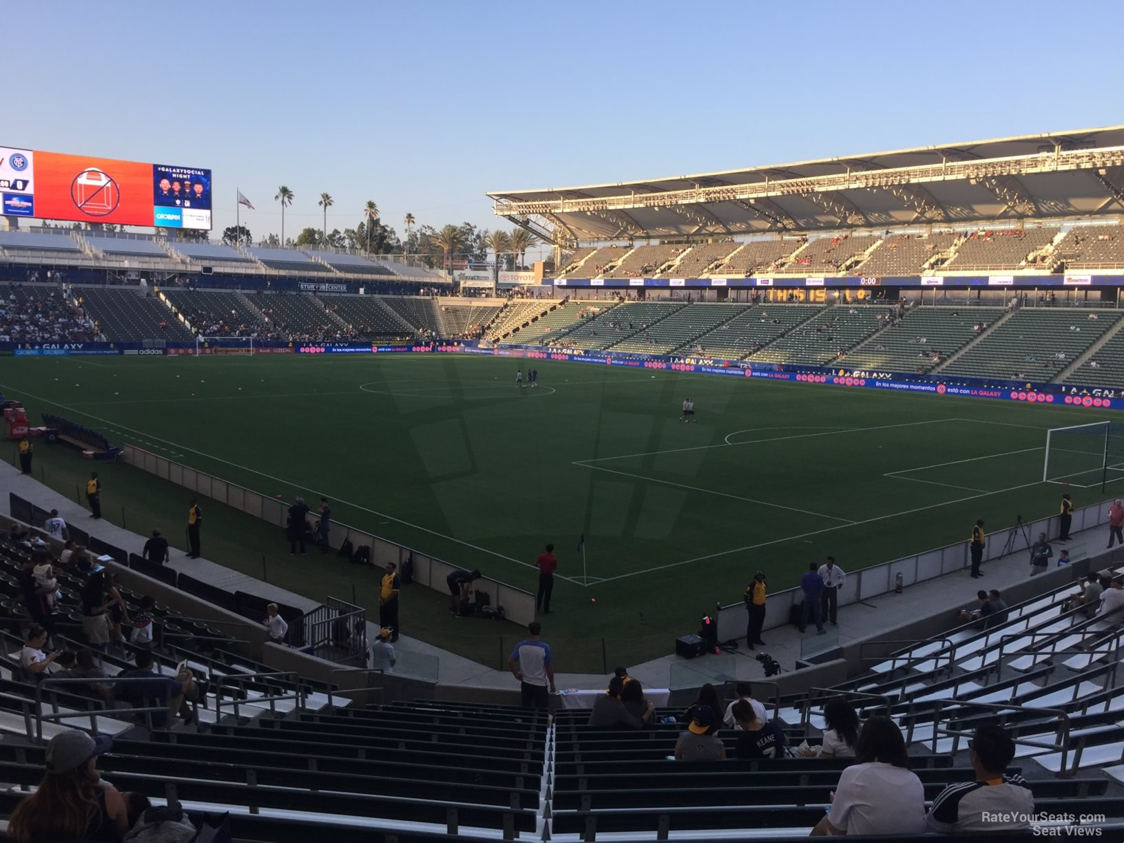 Seat View for Dignity Health Sports Park Section 105, Row V