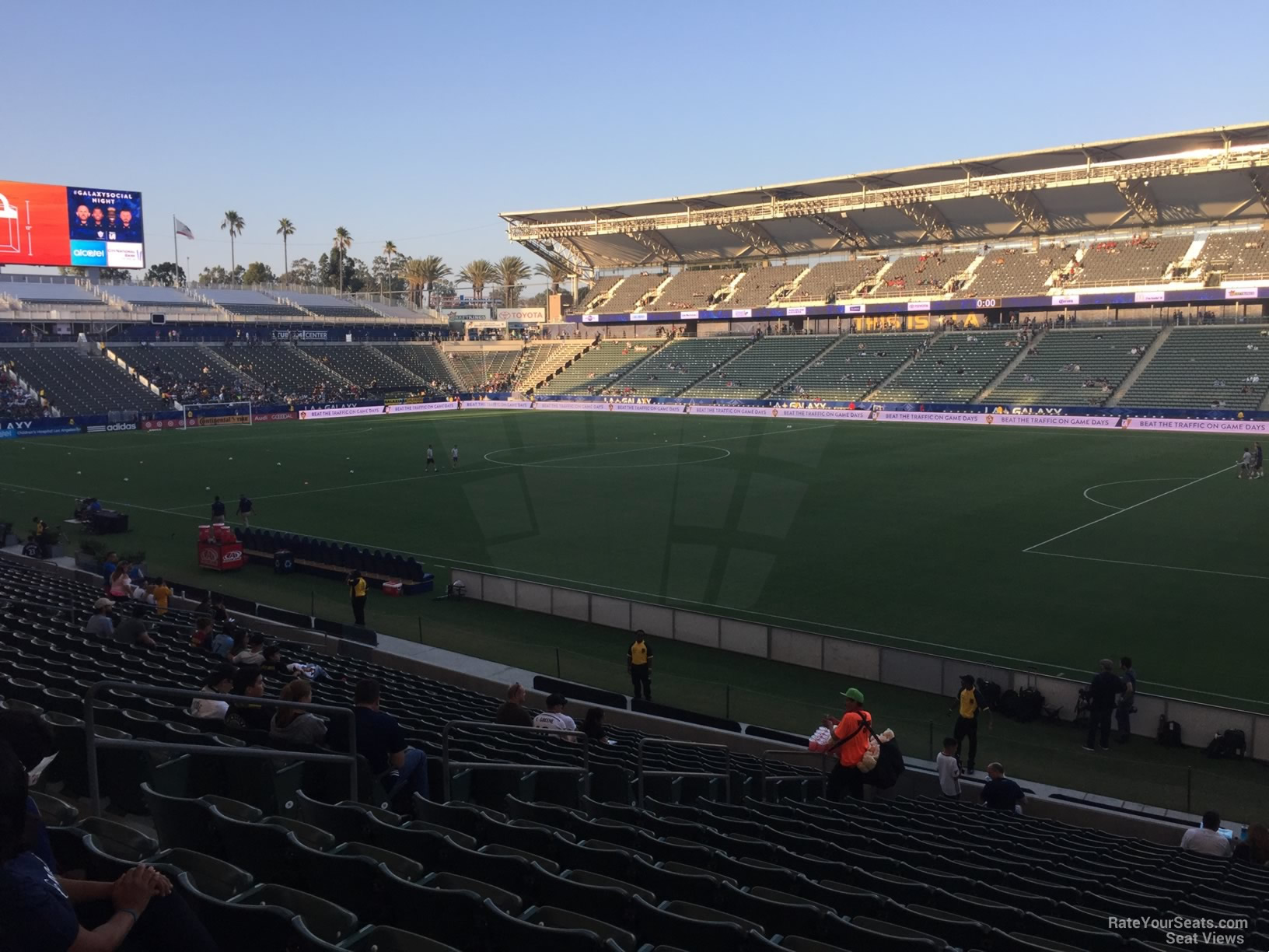 Seat View for Dignity Health Sports Park Section 107, Row V