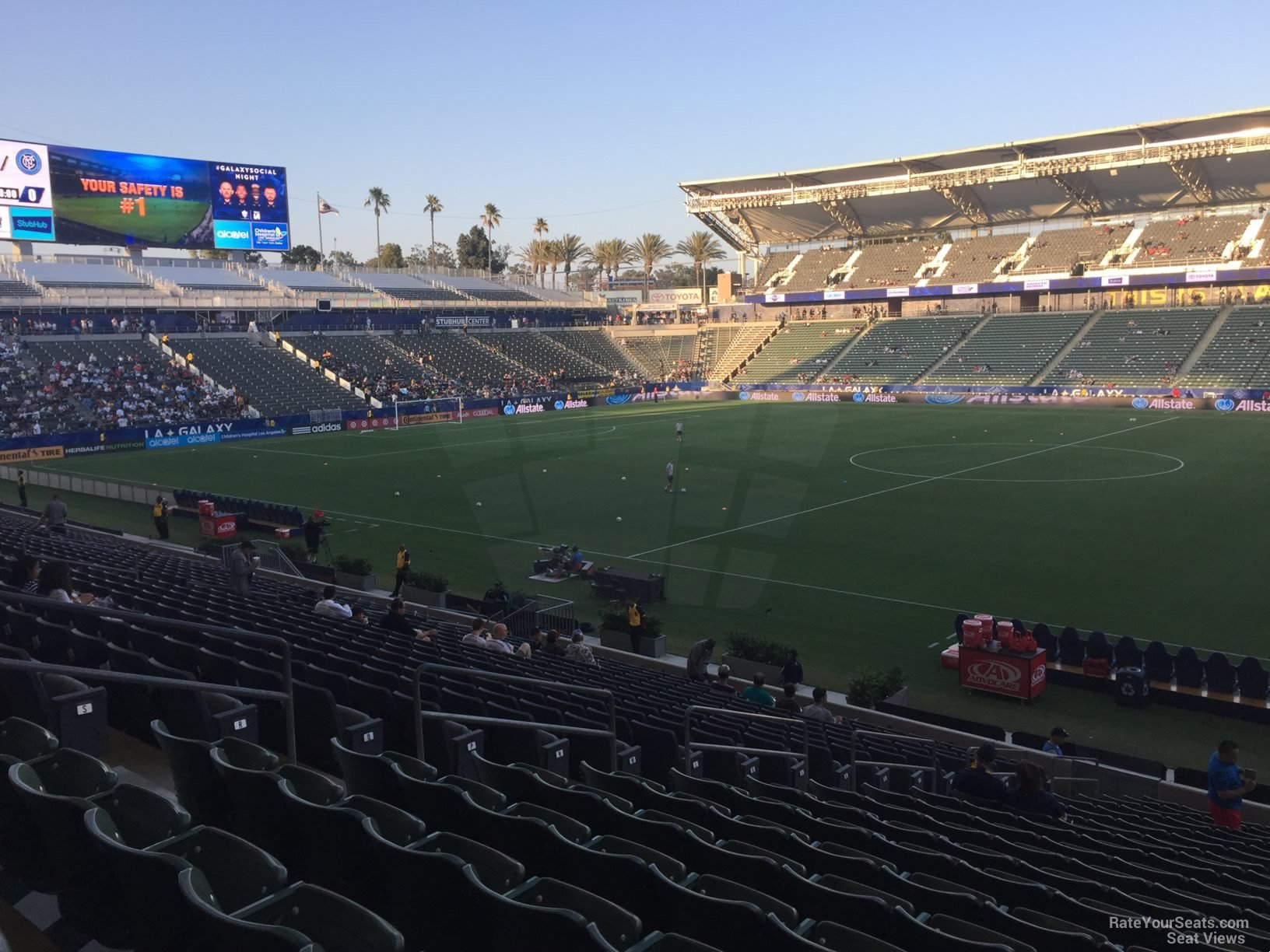 Seat View for Dignity Health Sports Park Section 109, Row V