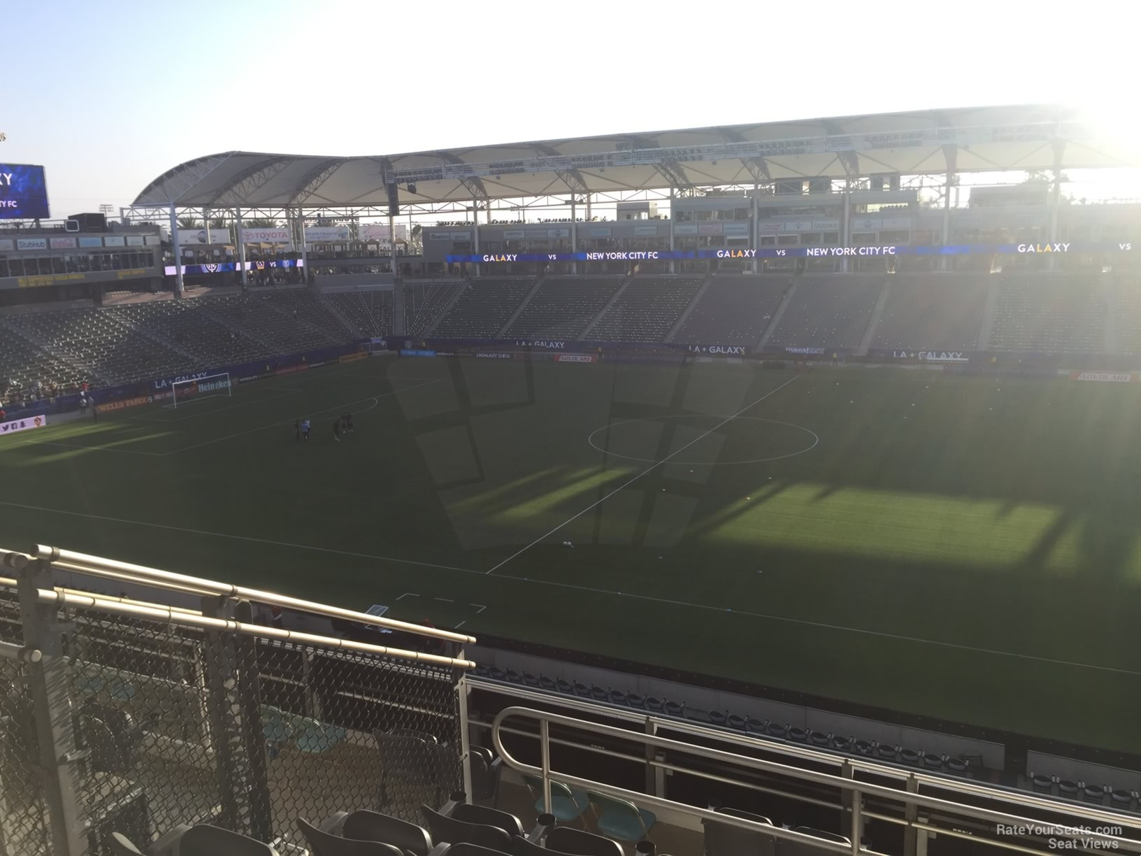 Seat View for Dignity Health Sports Park Section 229, Row JJ