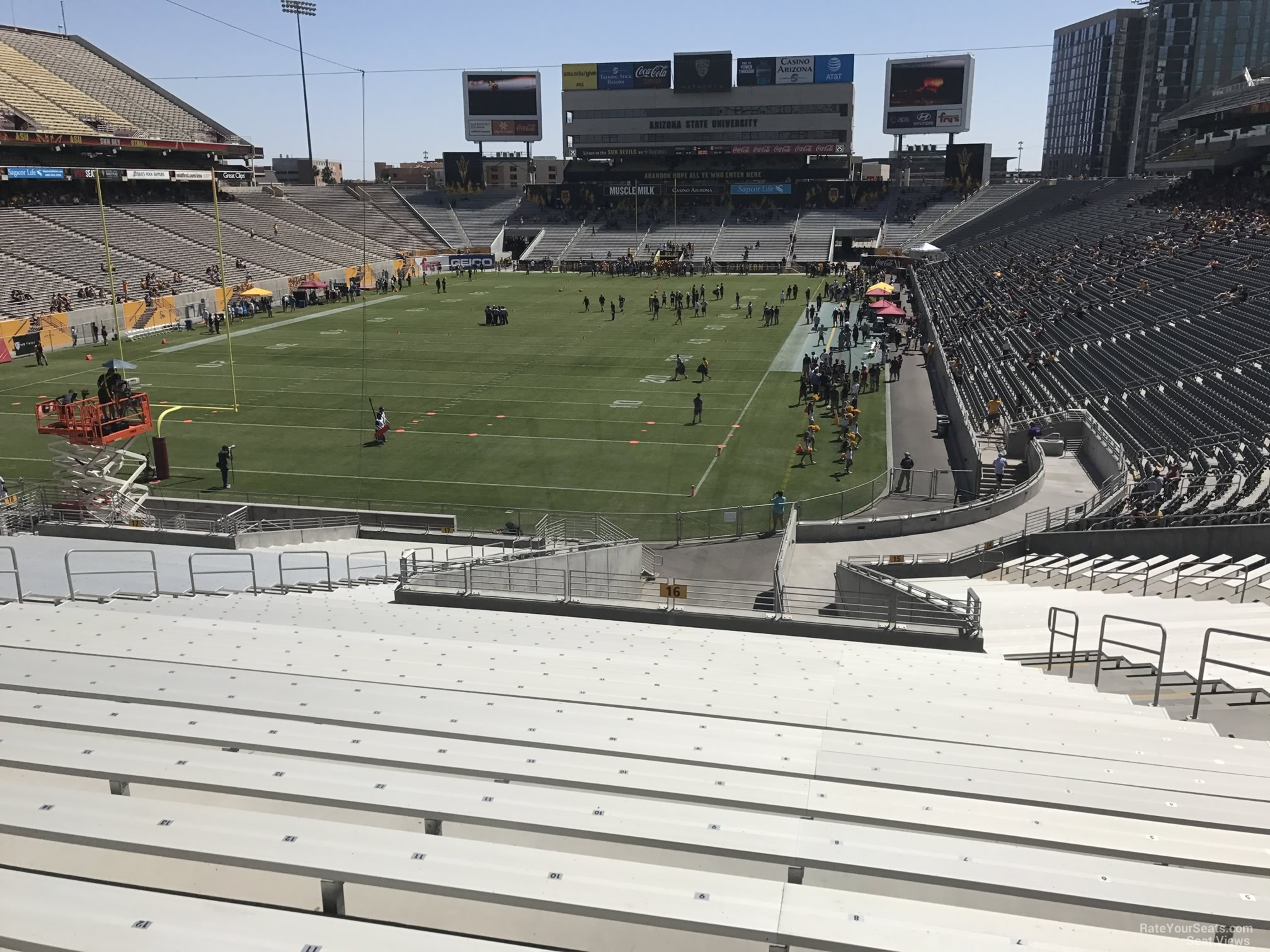 Seat View for Sun Devil Stadium Section 16, Row 45