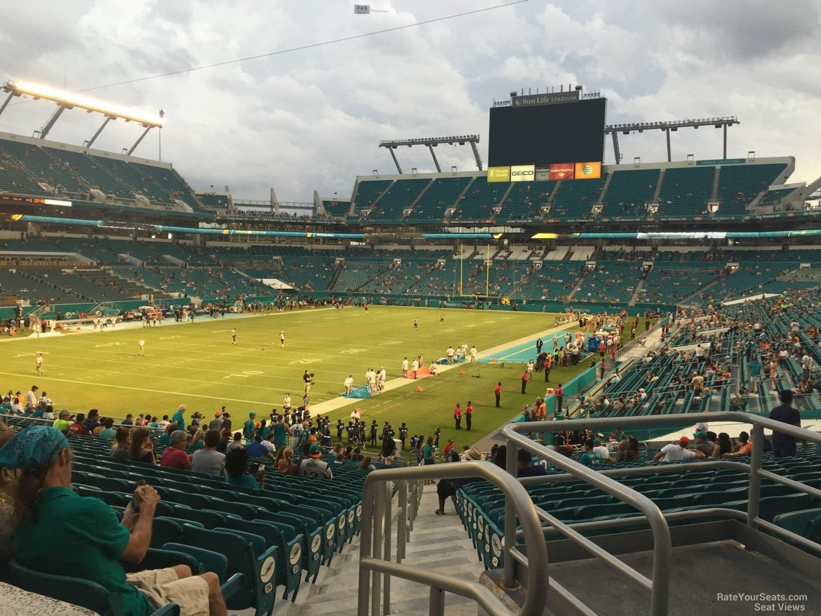 hard rock stadium section 126 - miami dolphins