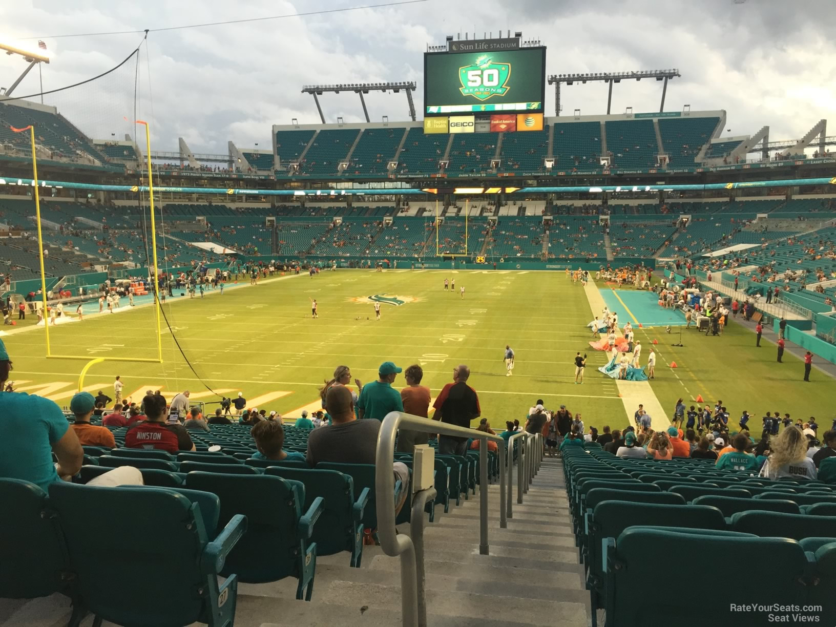 Hard Rock Stadium Section 129 Miami Dolphins
