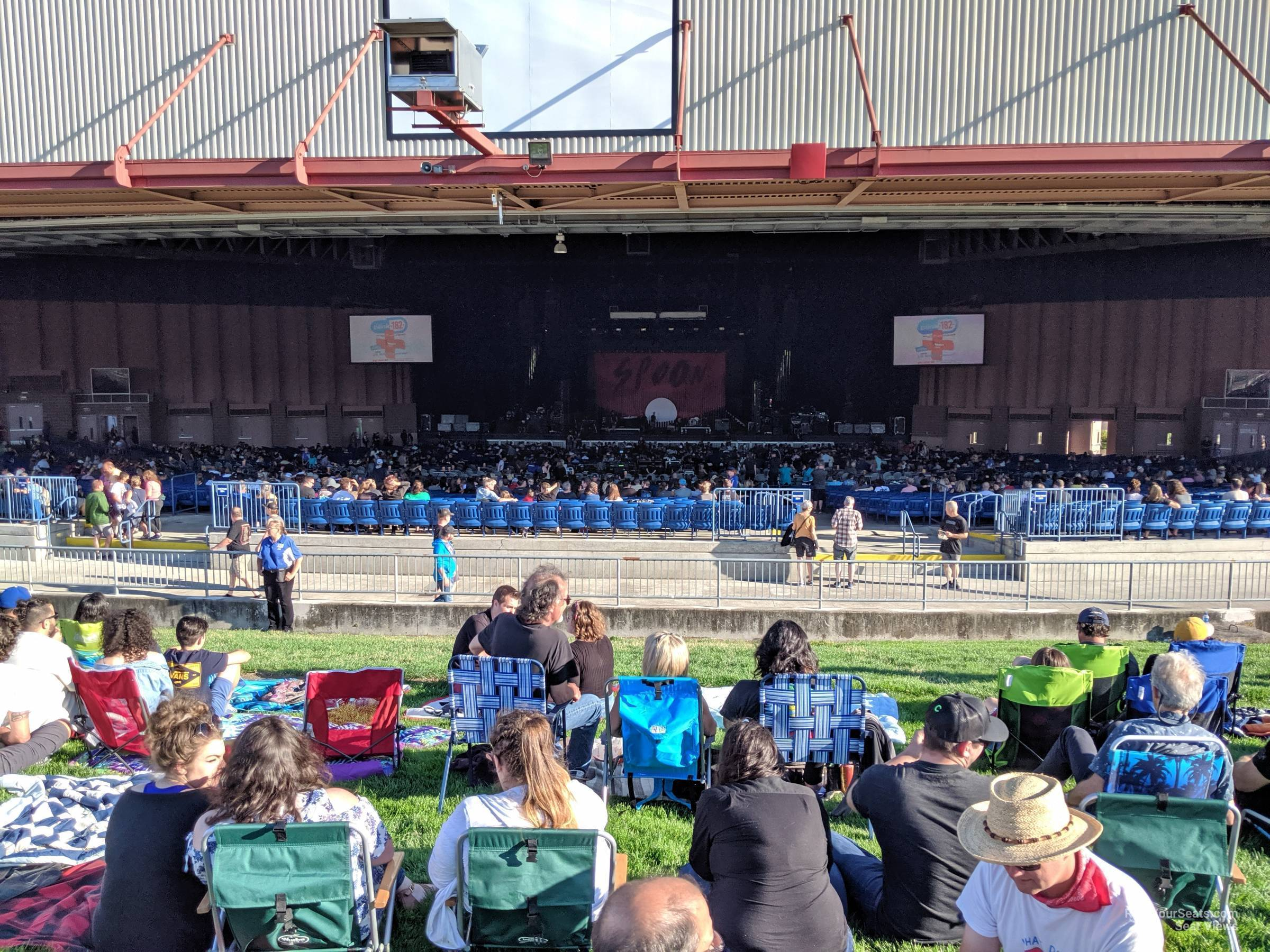 Concert Seat View for Sunlight Supply Amphitheater Lawn