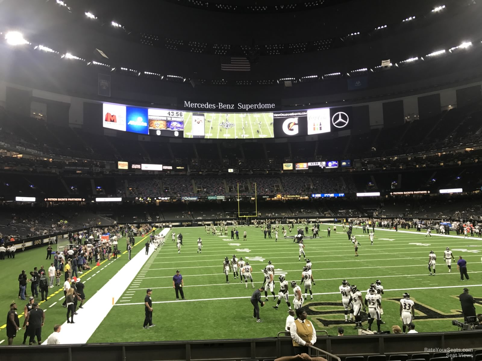 88c7d9e0 Superdome Section 102 - New Orleans Saints - RateYourSeats.com