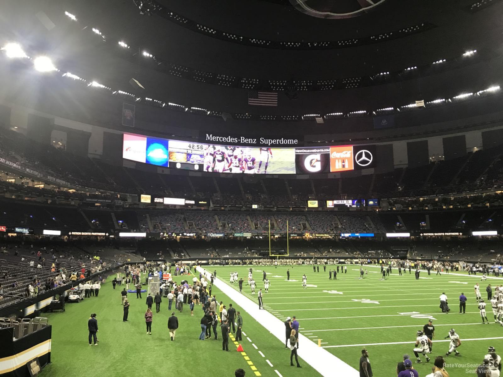 Superdome Section 104 New Orleans Saints Rateyourseats Com