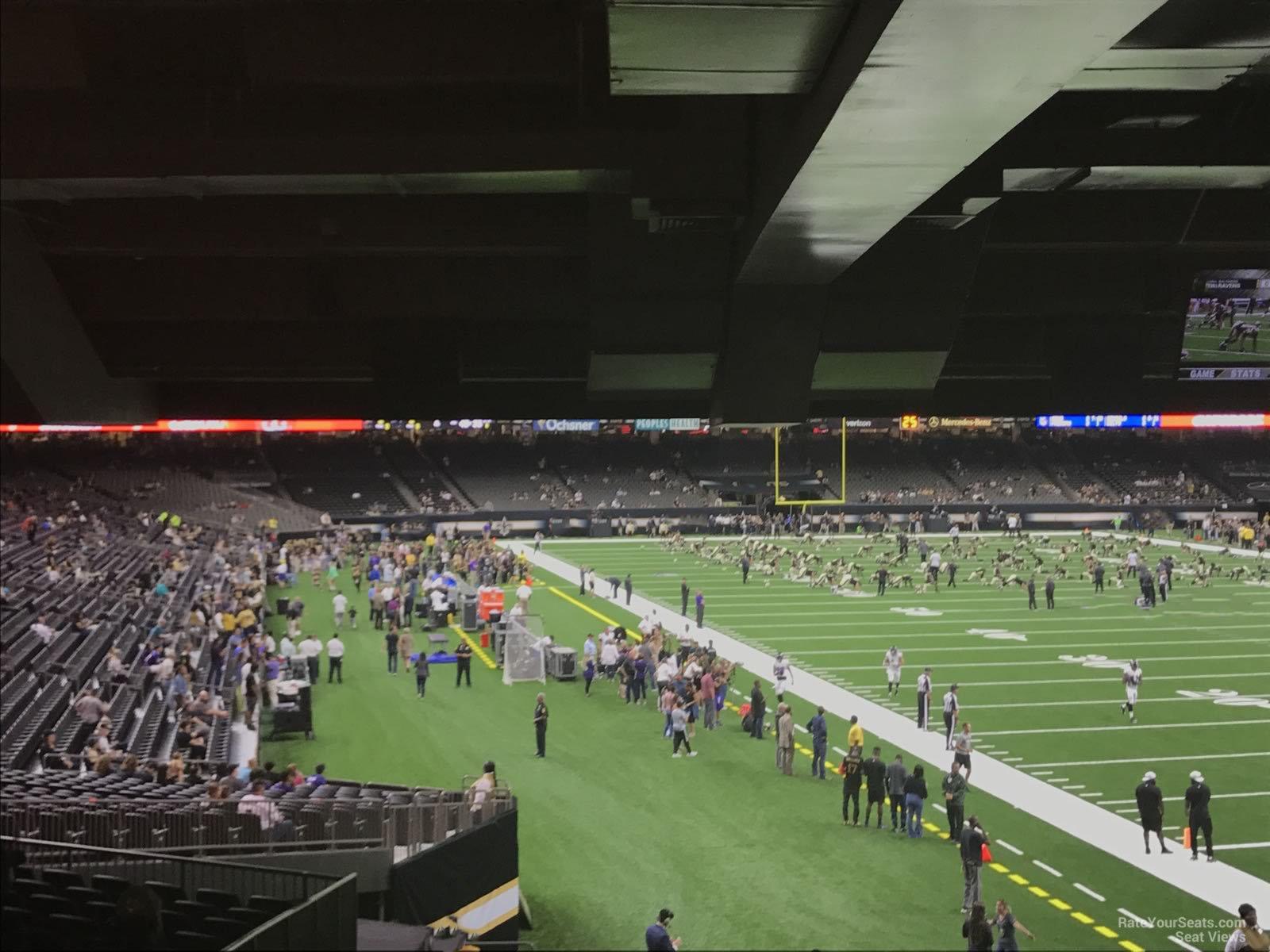 Superdome Section 107 New Orleans Saints Rateyourseats Com