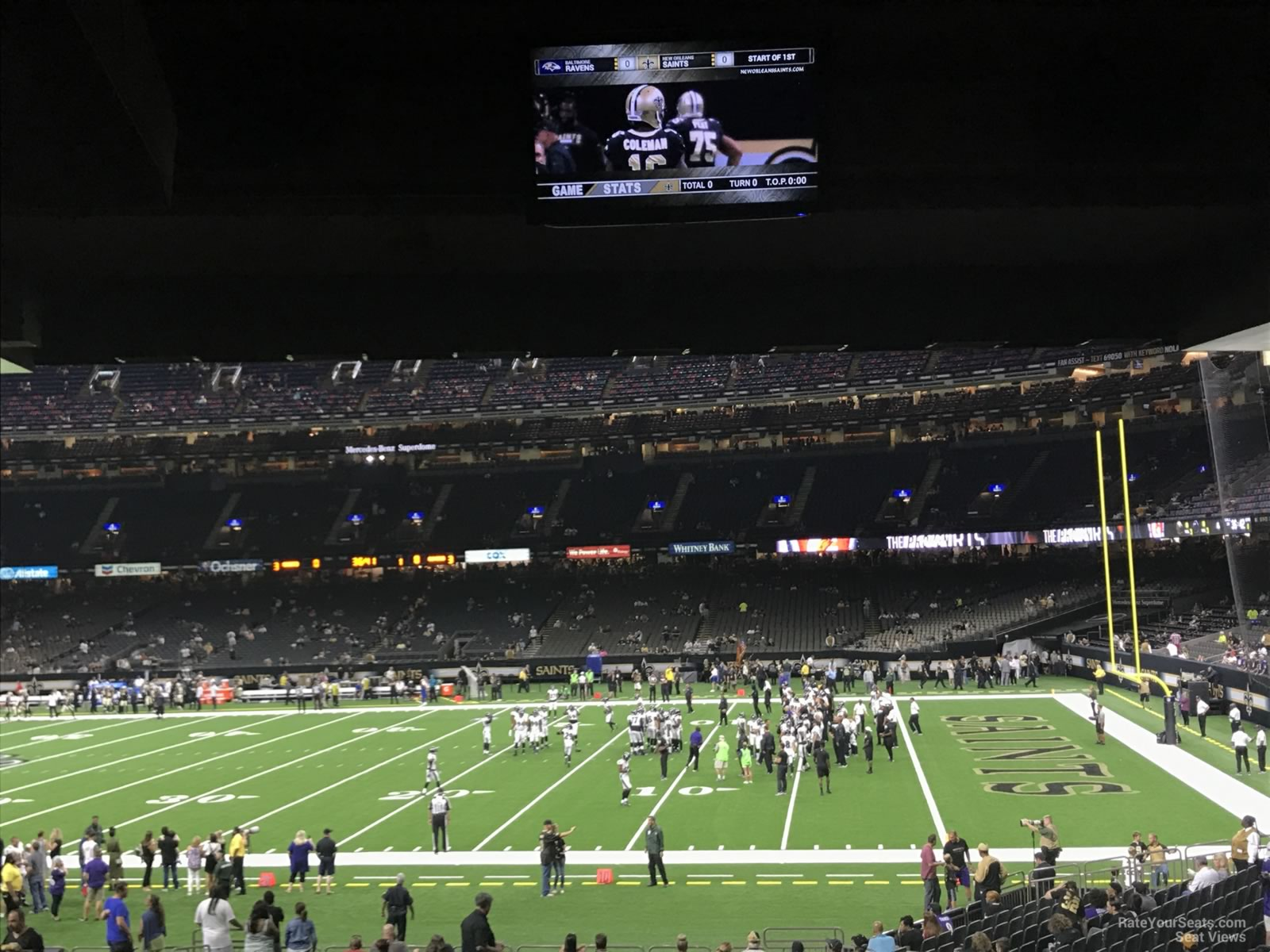 New Orleans Saints Seat View for Superdome Section 111