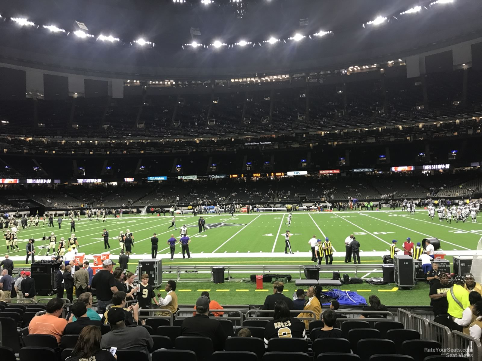 New Orleans Saints Seat View for Superdome Section 114