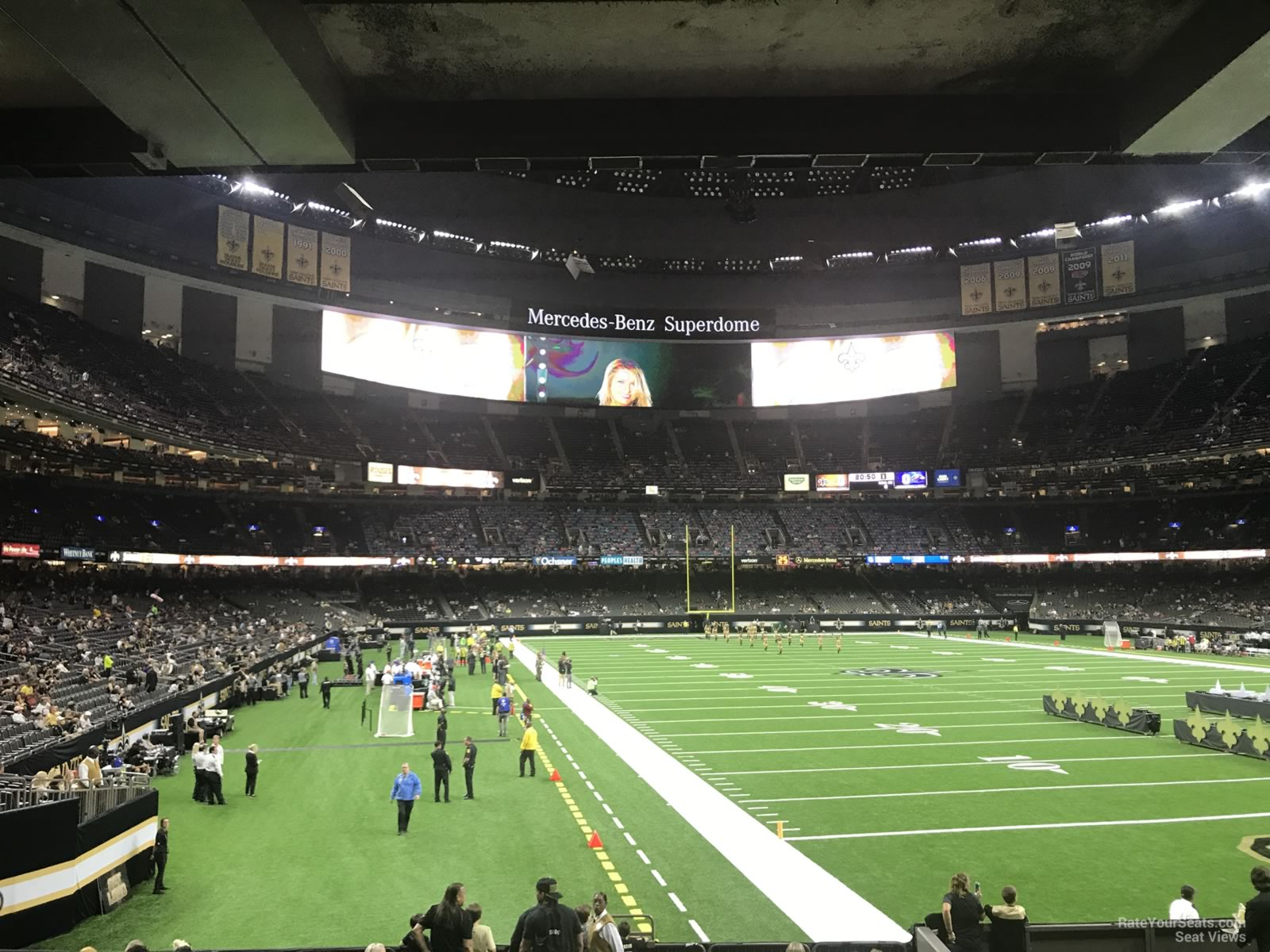New Orleans Saints Seat View for Superdome Section 132