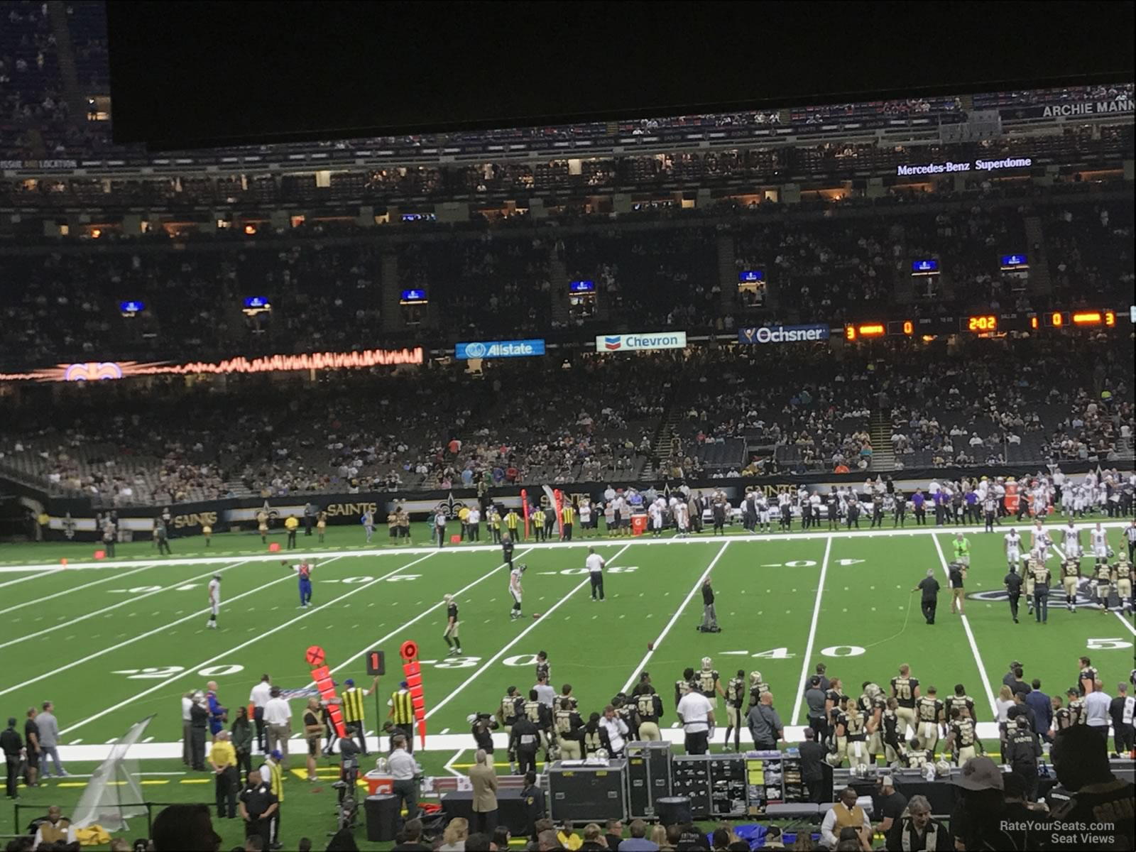 New Orleans Saints Seat View for Superdome Section 143