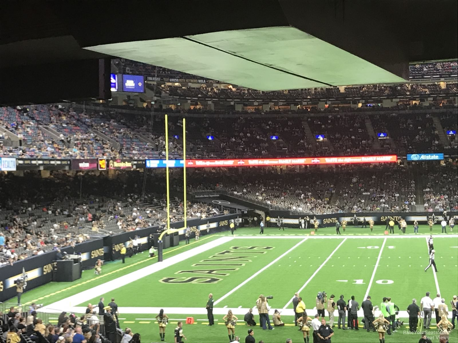 New Orleans Saints Seat View for Superdome Section 145