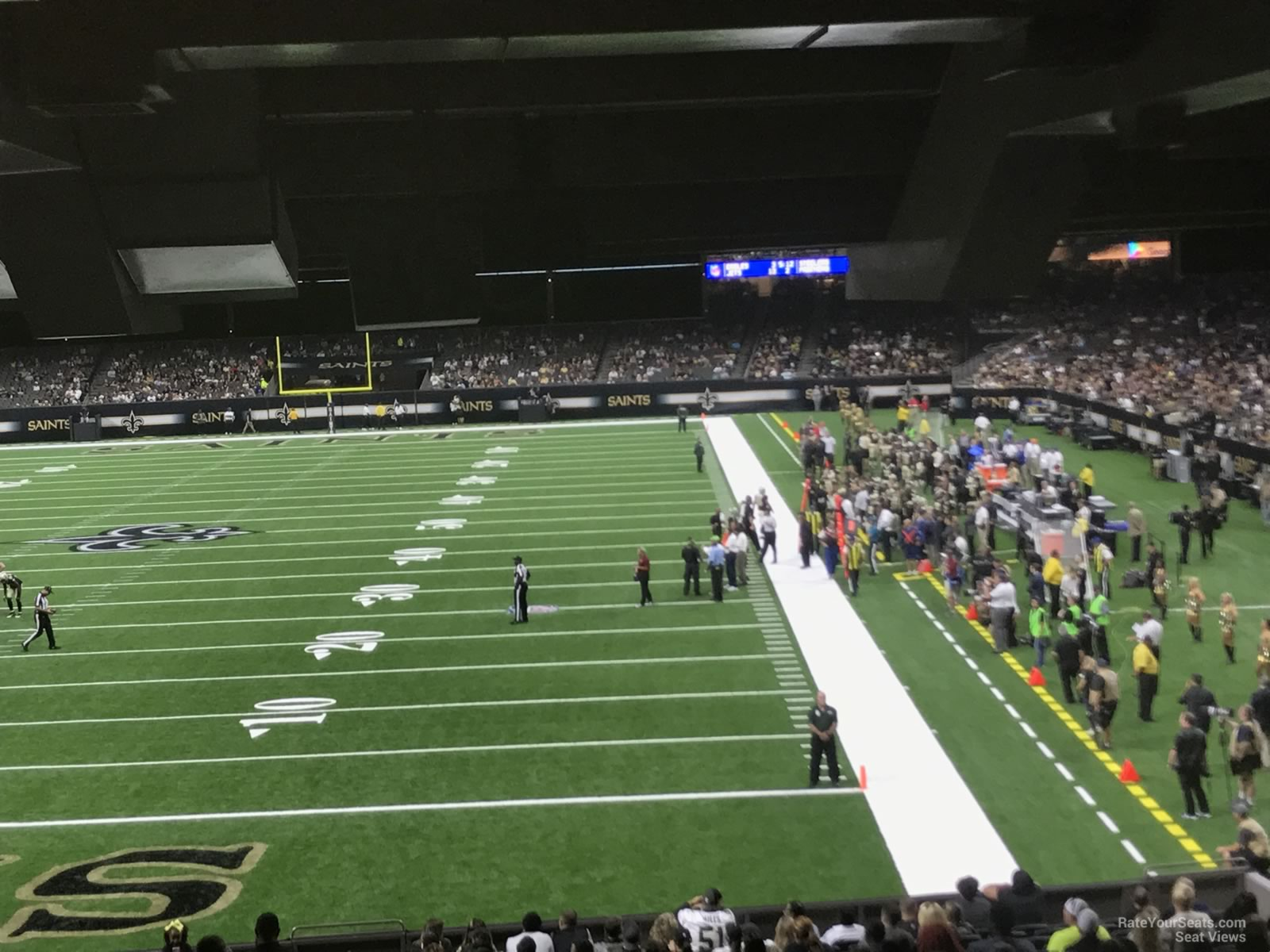 New Orleans Saints Seat View for Superdome Section 154
