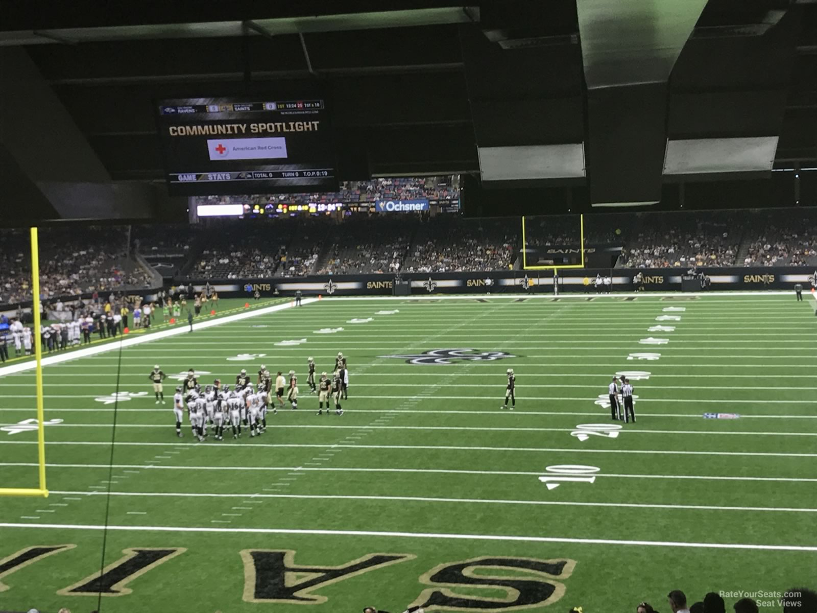 New Orleans Saints Seat View for Superdome Section 155