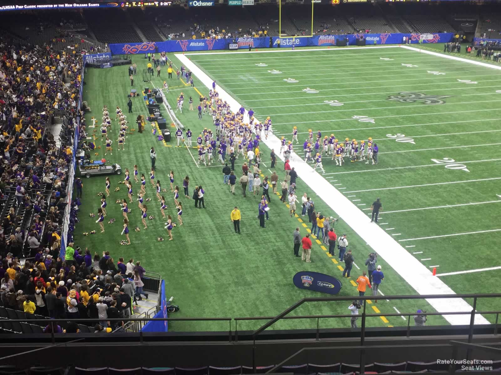 New Orleans Saints Seat View For Superdome Section 328 Row 11