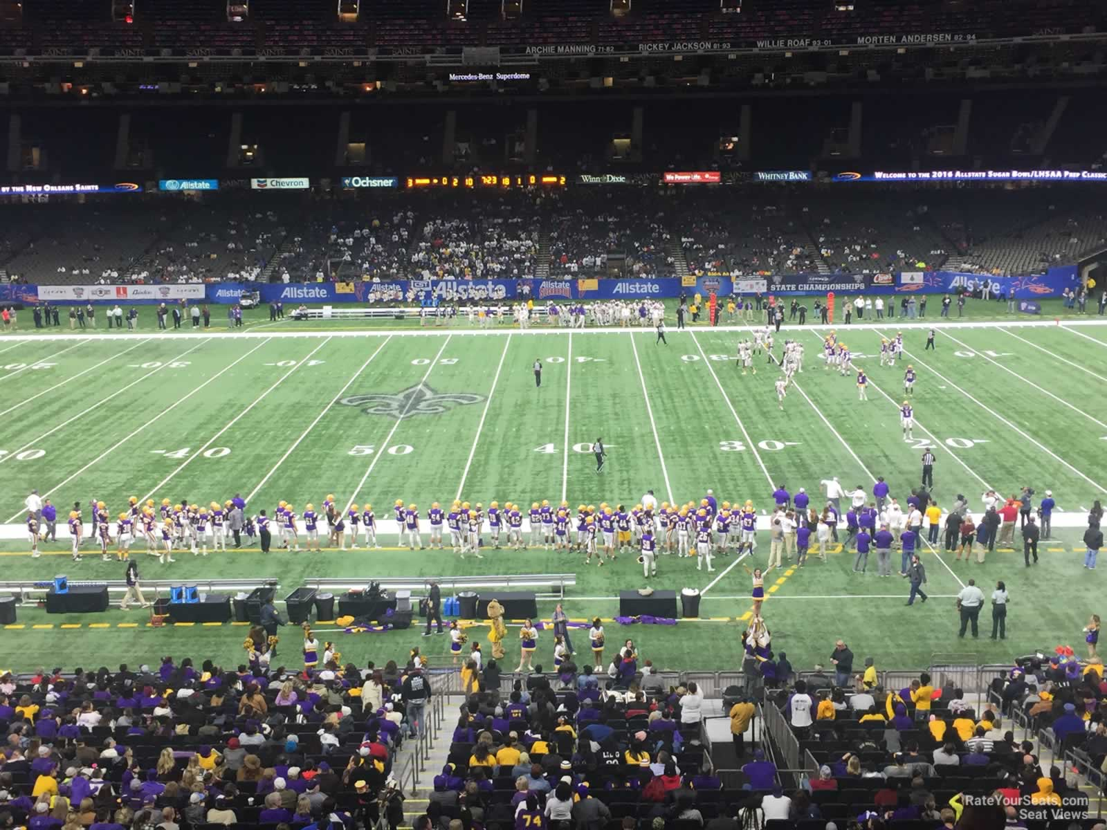 New Orleans Saints Seat View for Superdome Section 335 Row 11