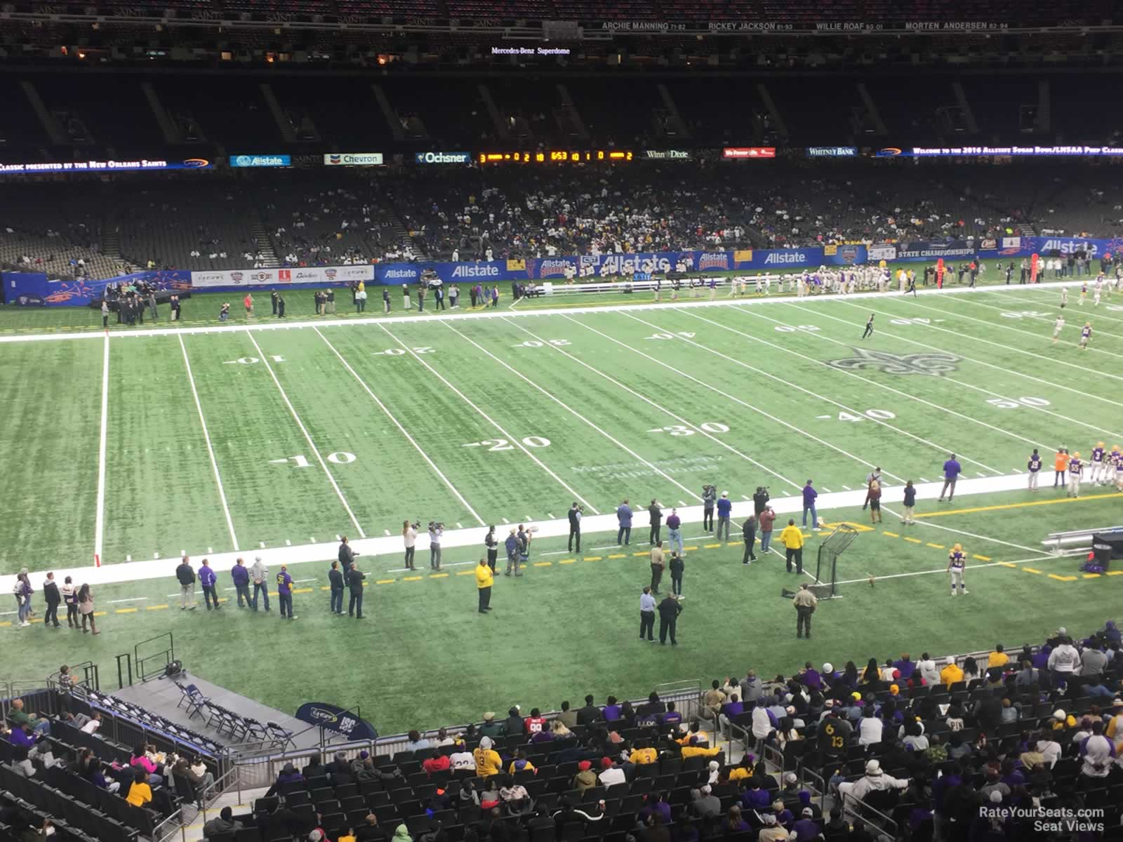 Superdome Section 340 New Orleans Saints Rateyourseats Com