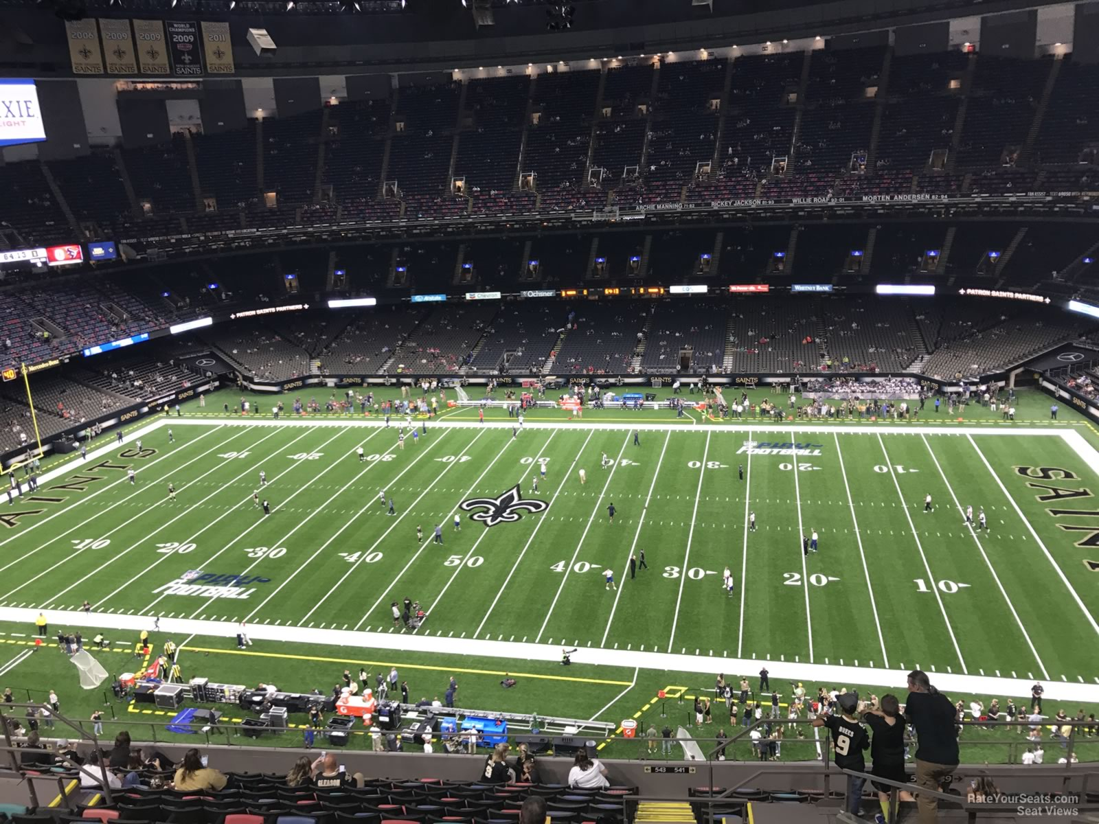 superdome section 638 new orleans saints