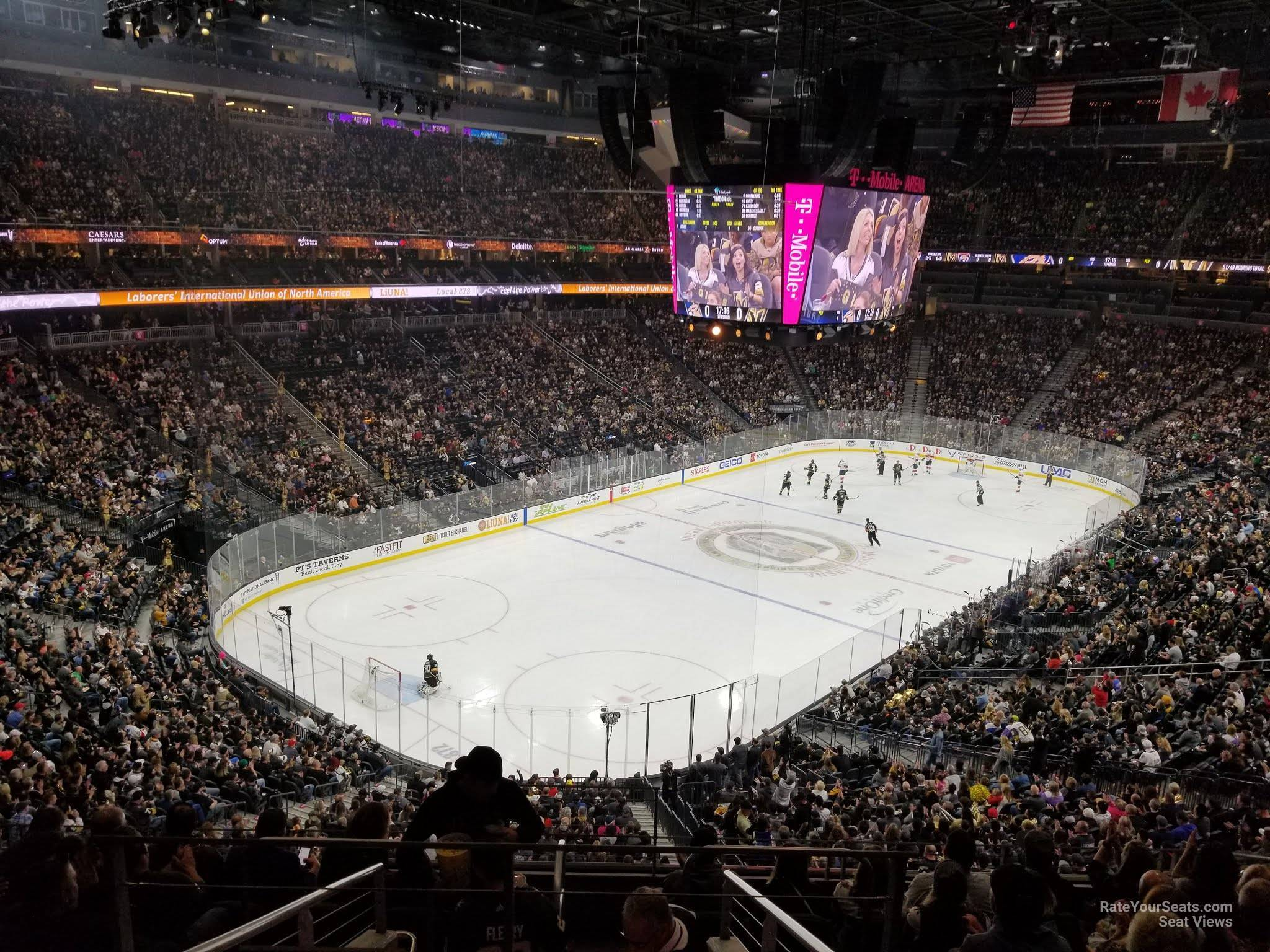 T-Mobile Arena Section 104 - Vegas Golden Knights - RateYourSeats com