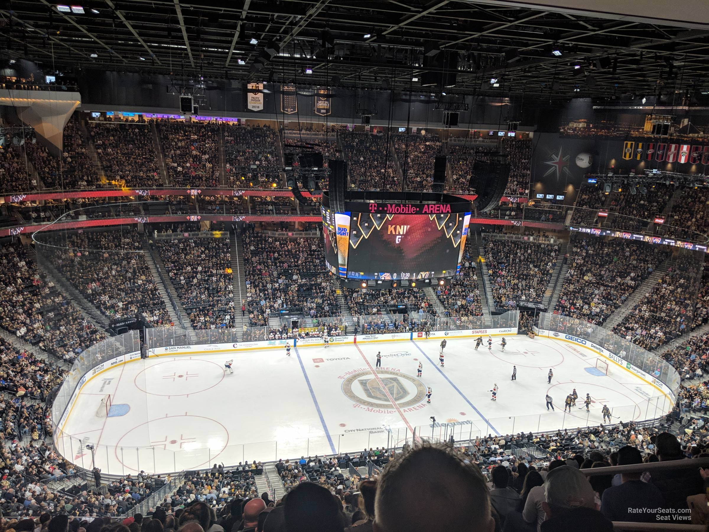 T-Mobile Arena Section 221 - Vegas Golden Knights - RateYourSeats com