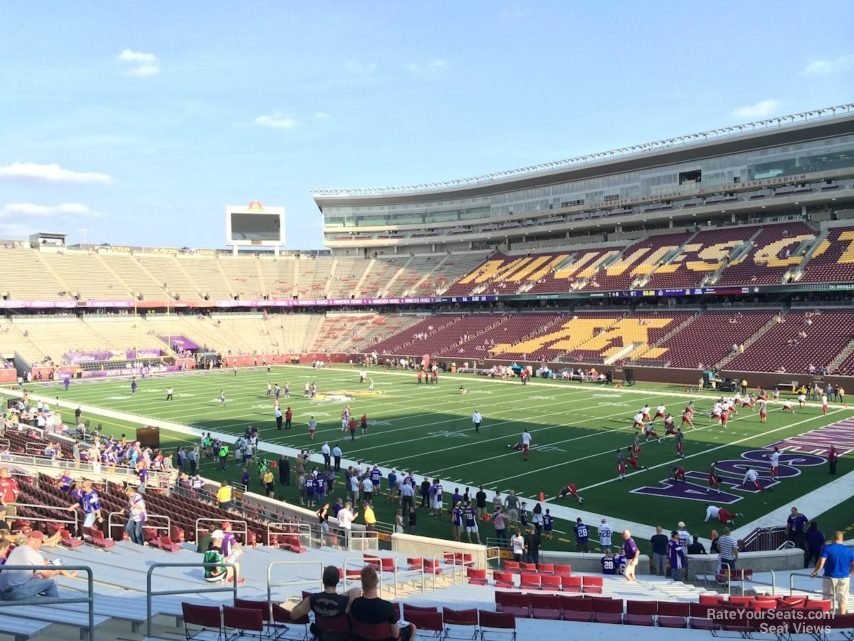 Seat View for TCF Bank Stadium Section 103, Row 30