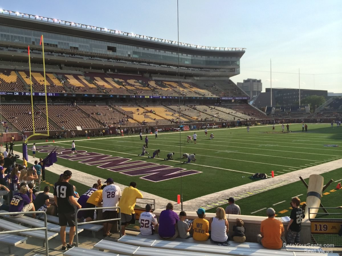 TCF Bank Stadium Section 119 - RateYourSeats.com