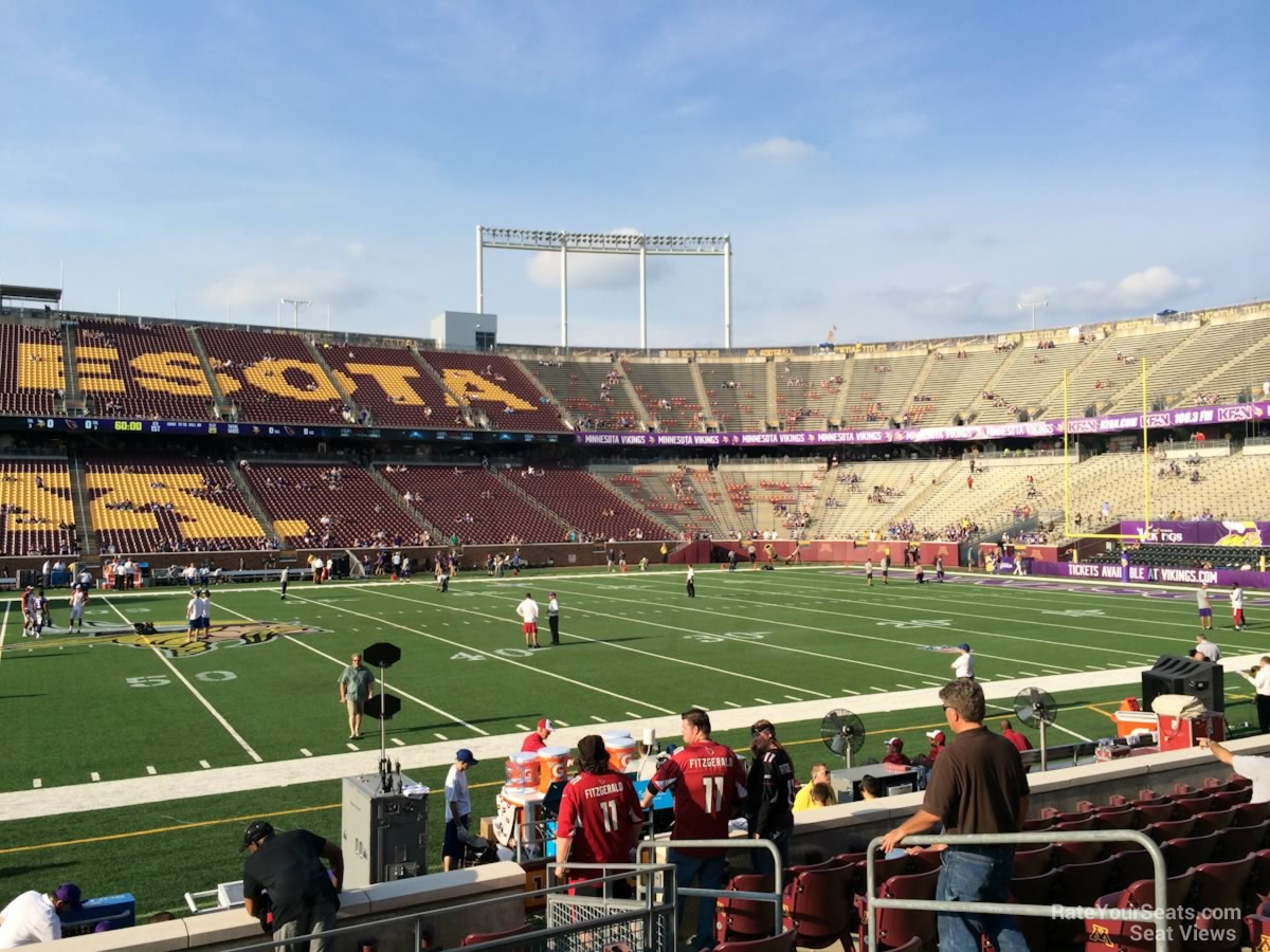 Seat View for TCF Bank Stadium Section 141, Row 10