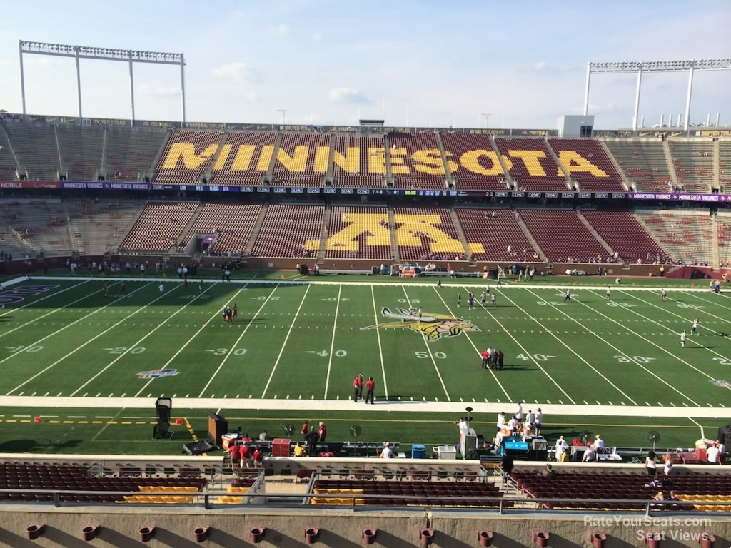 Seat View for TCF Bank Stadium Section 241, Row 7