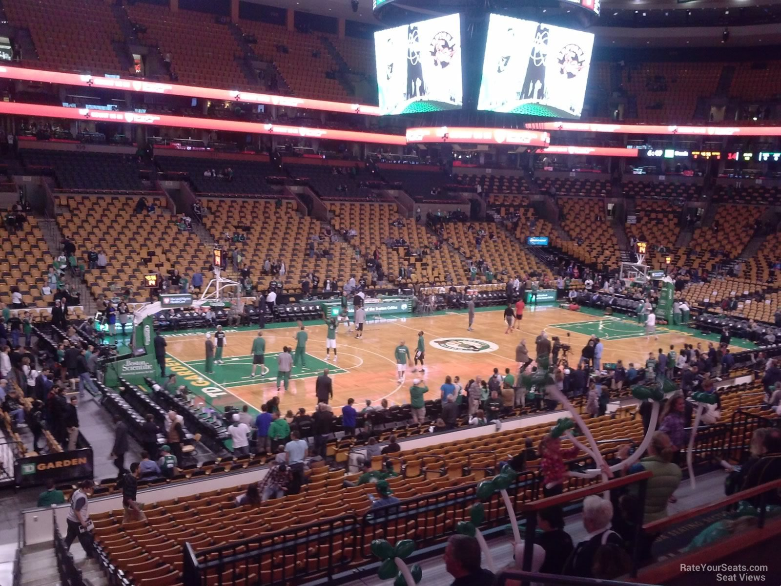 Charmant Boston Celtics Seat View For TD Garden Section 145