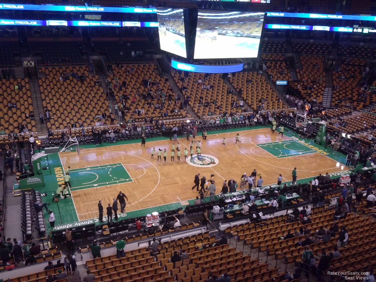 Boston Celtics Seat View for TD Garden Section 302