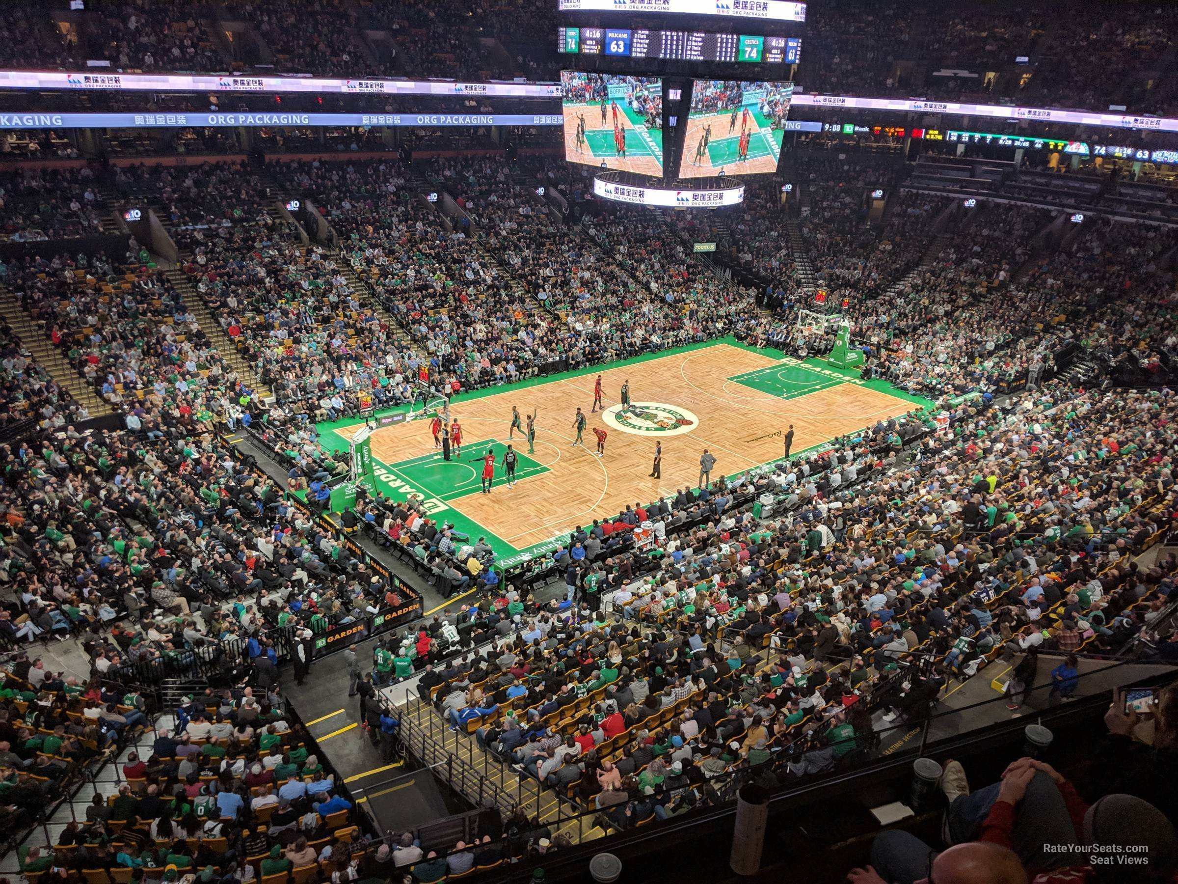 Boston Celtics Seat View for TD Garden Section 304, Row 3