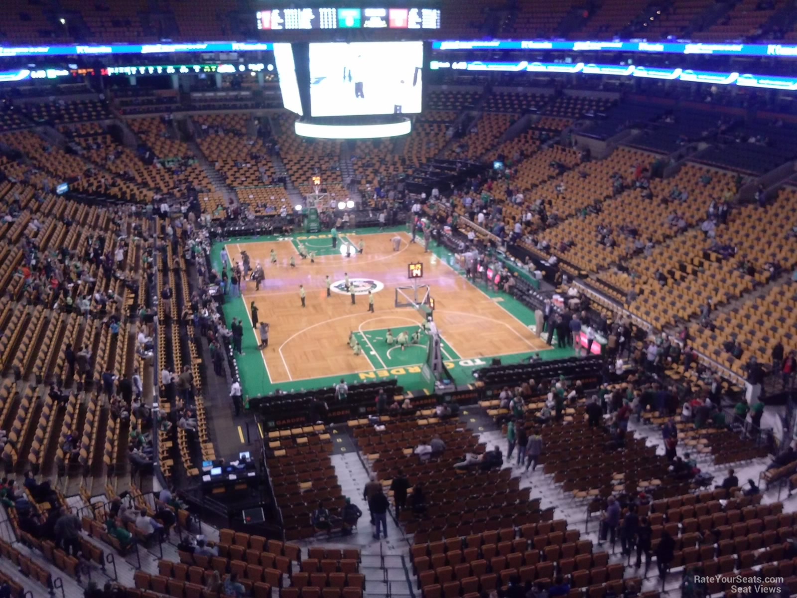 Boston Celtics Seat View for TD Garden Section 309