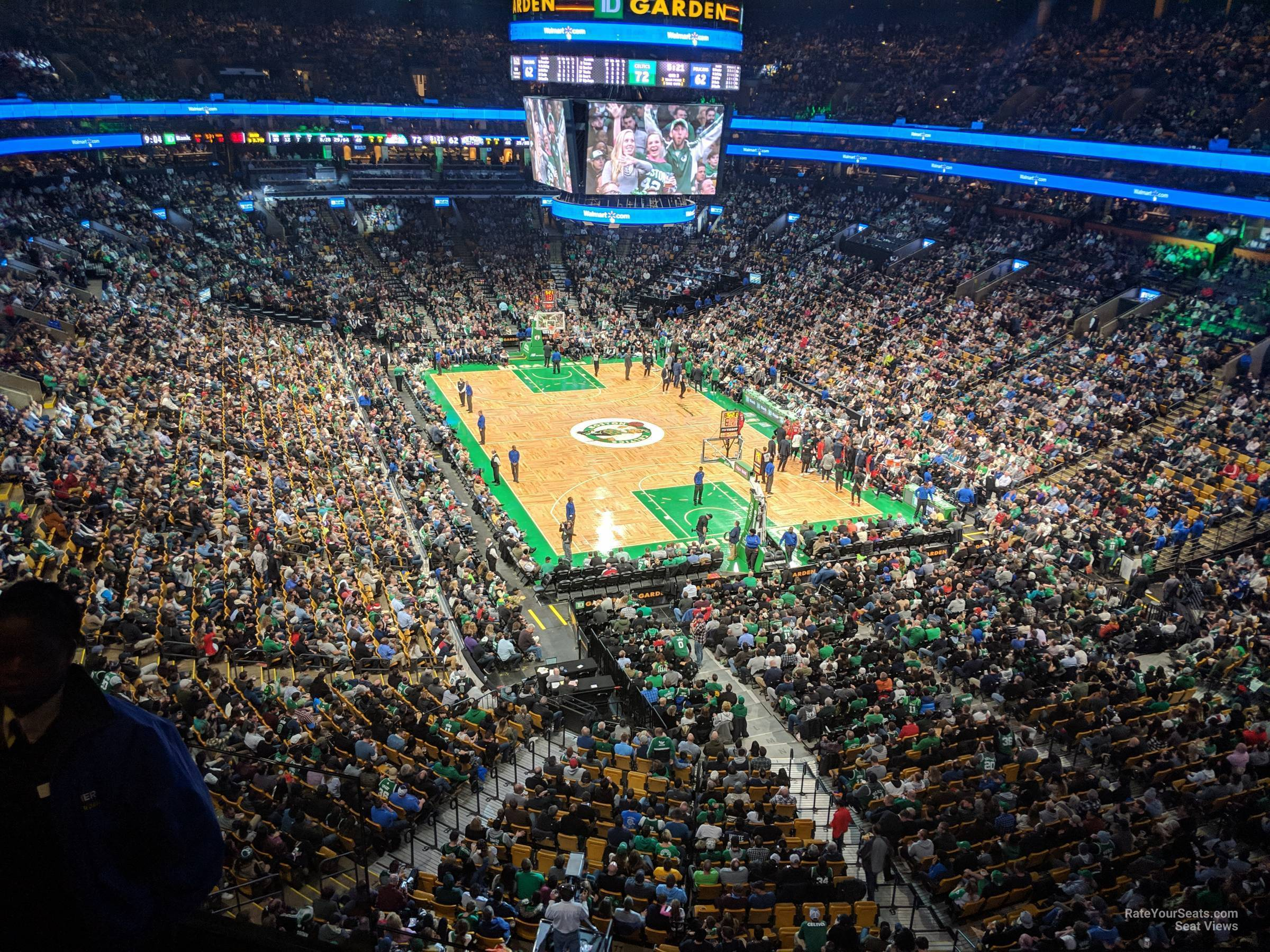 Boston Celtics Seat View for TD Garden Section 310, Row 3
