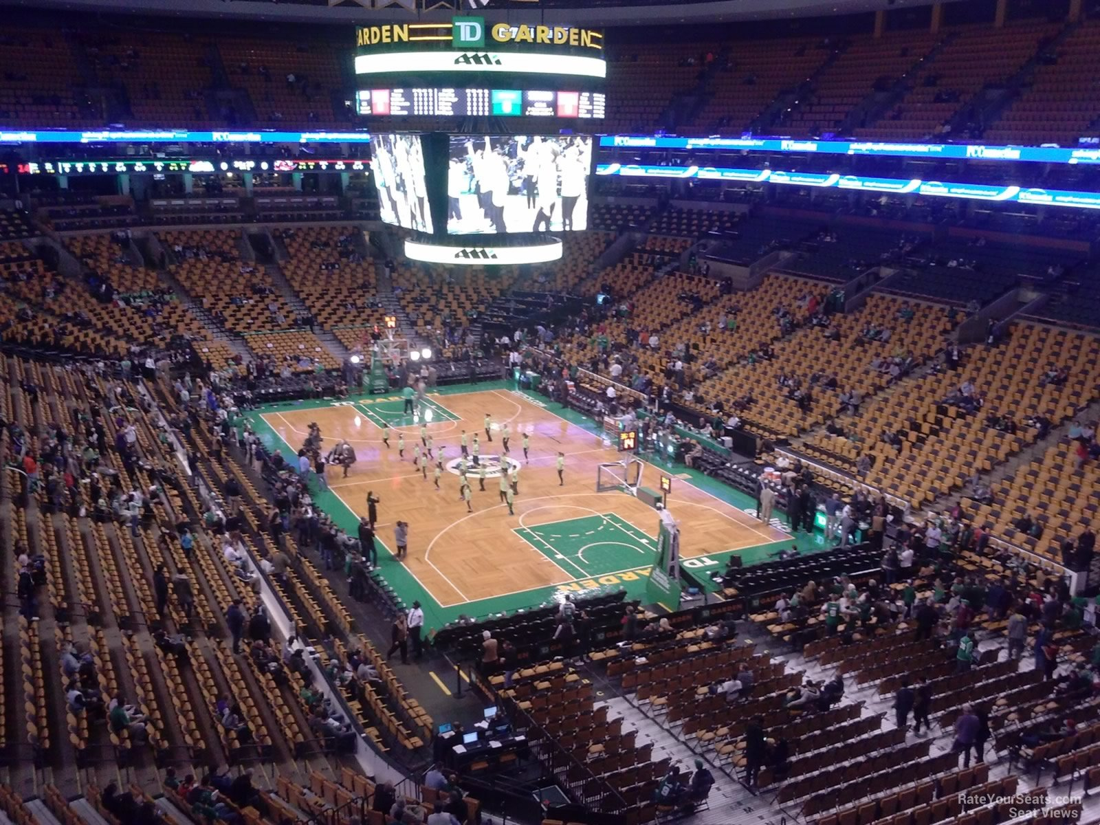 Boston Celtics Seat View for TD Garden Section 310